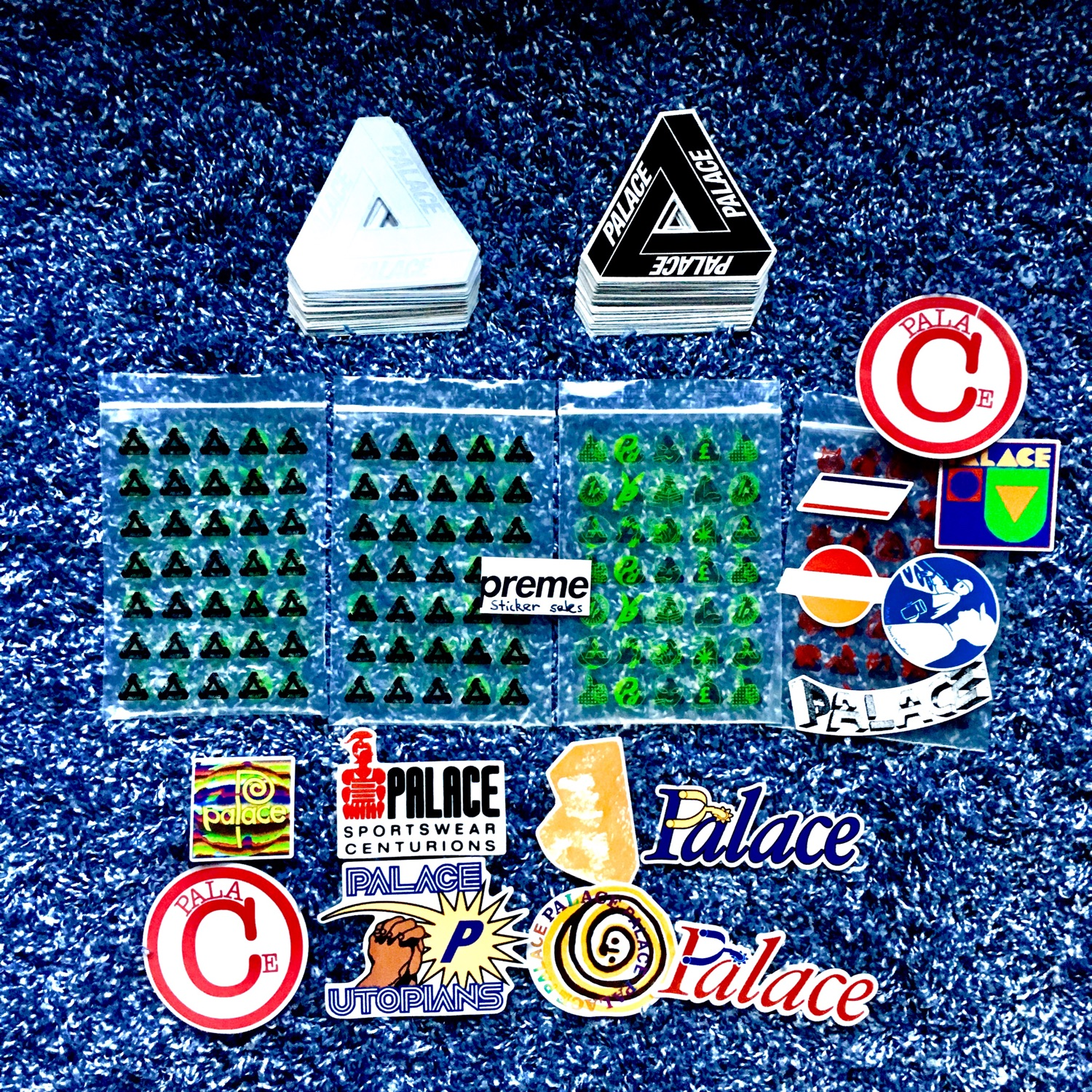 Palace Stickers And Accessories