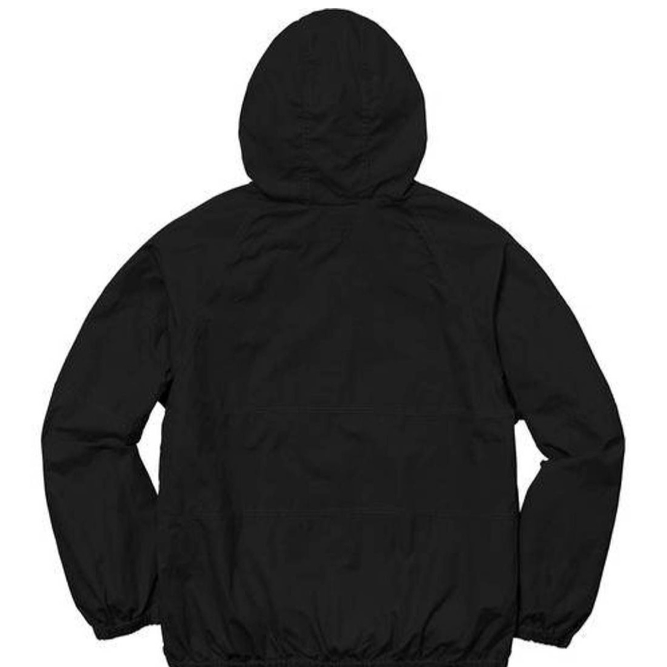 Supreme Ss18 Raglan Cotten Hooded Jacket New Black