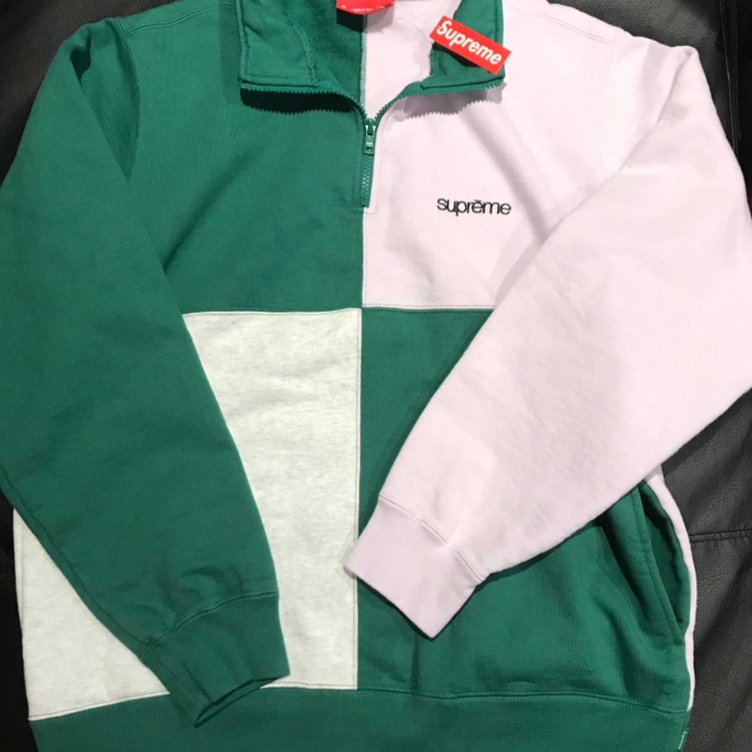 Supreme Color Blocked Half Zip Sweater *Dswt*