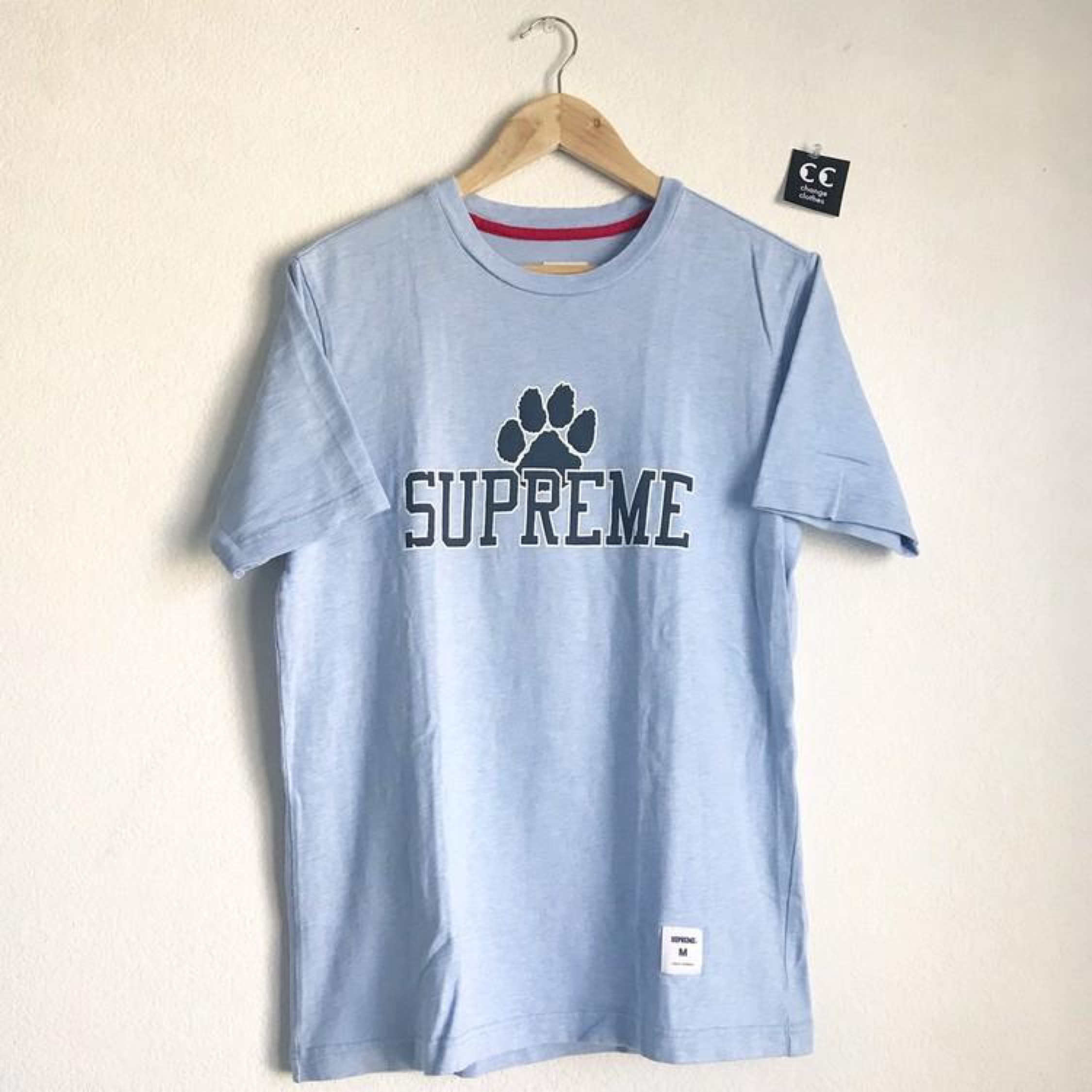 Supreme Athletic Top Paw Print Heather Blue
