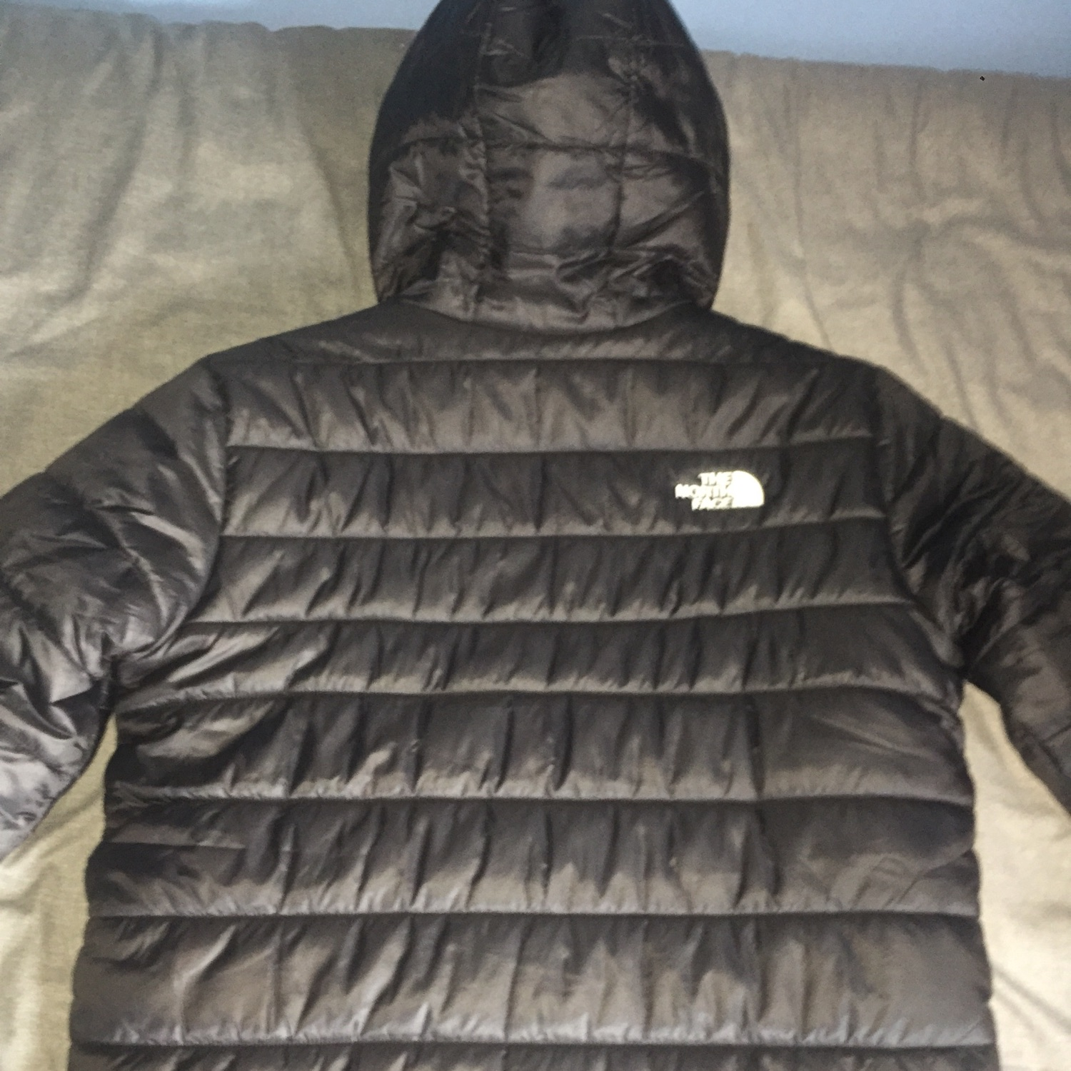 Black North Face Jacket Reversible