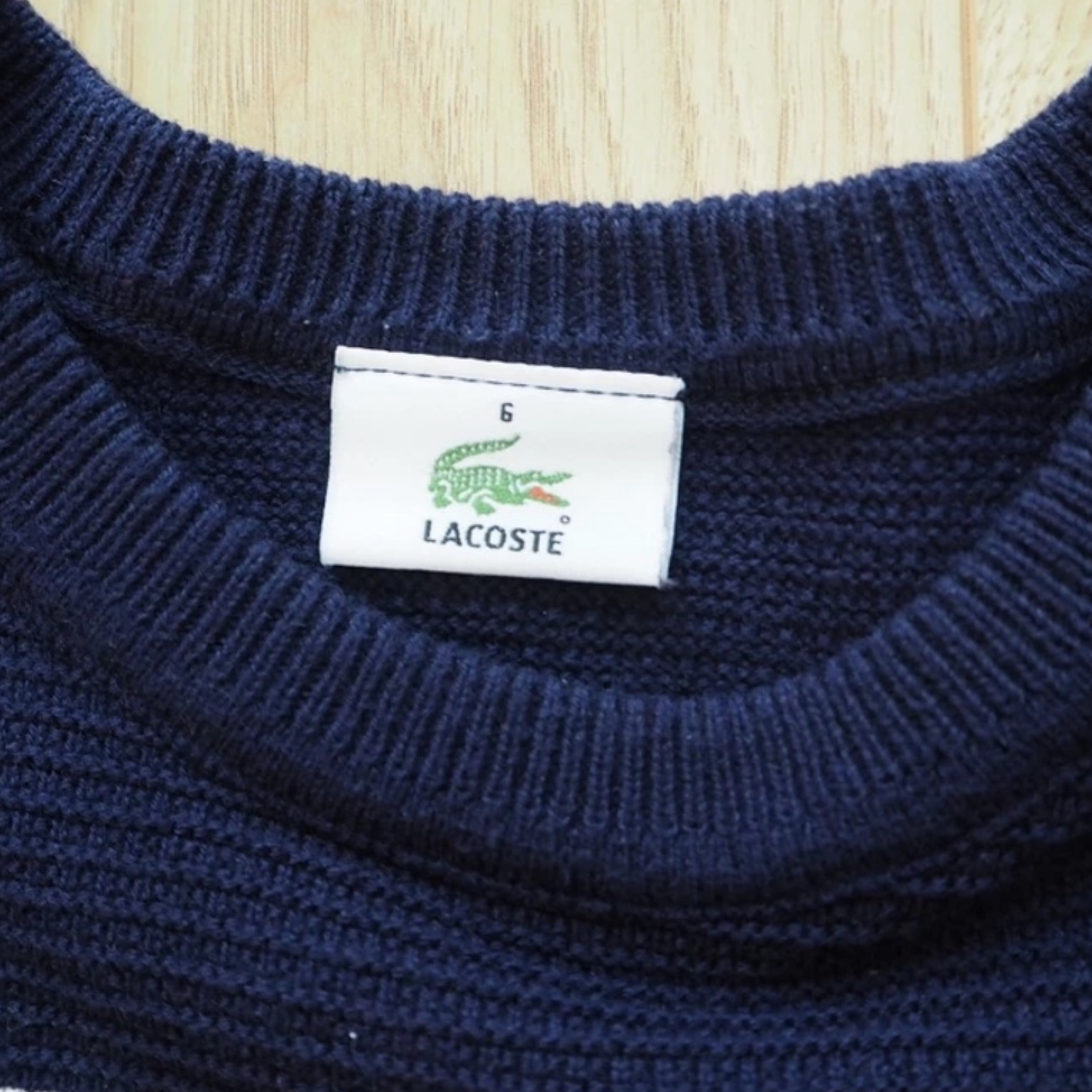 Vintage Lacoste Rainbow Sweater Red/Navy/White