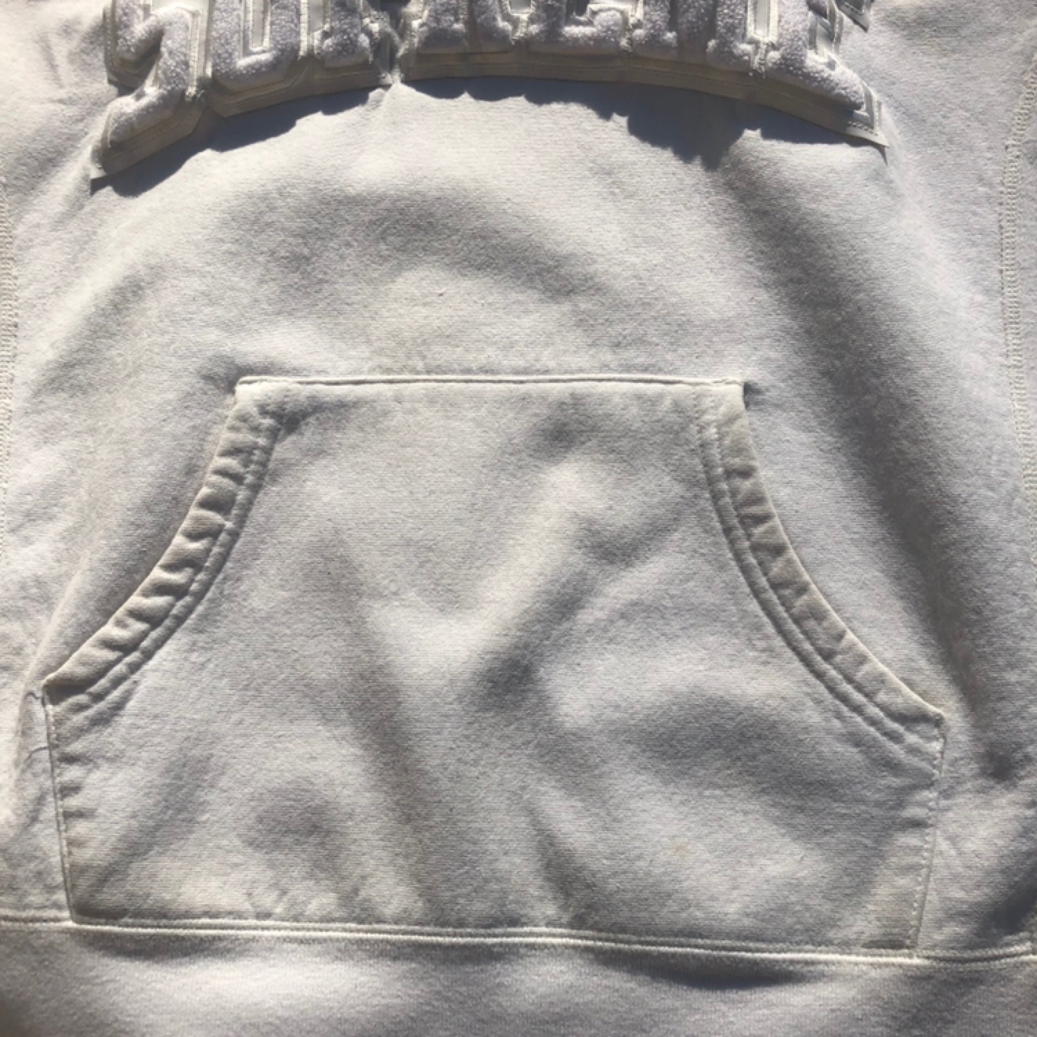 Supreme White Chinelle Hooded Sweatshirt