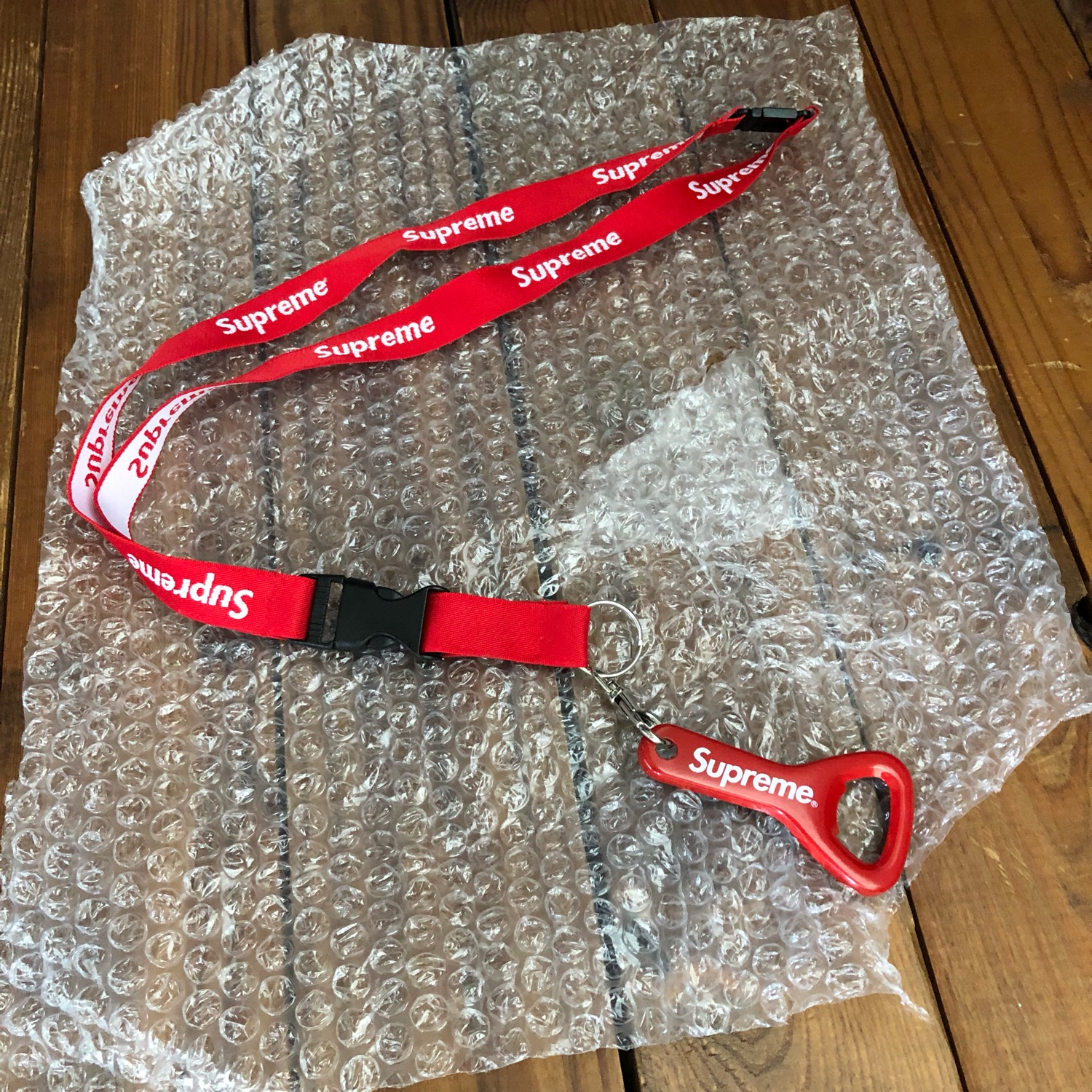 Rare Ds Supreme Red Lanyard W/ Bottle Opener Ss14