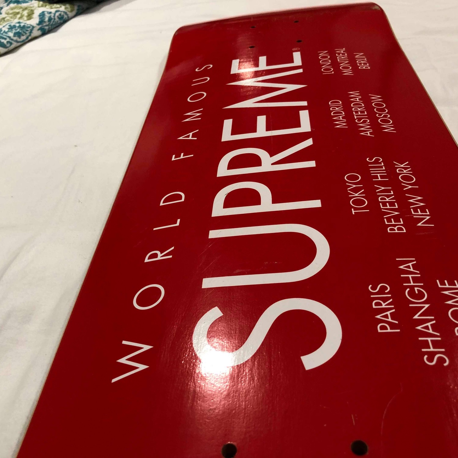 Supreme World Famous Deck Red