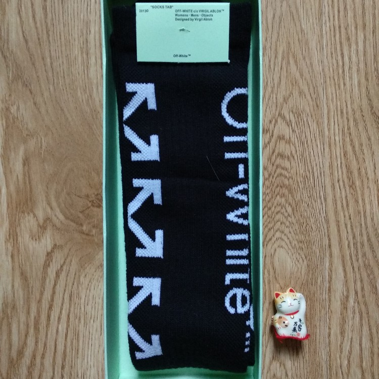 2019 Off White Diag Arrow Black Socks