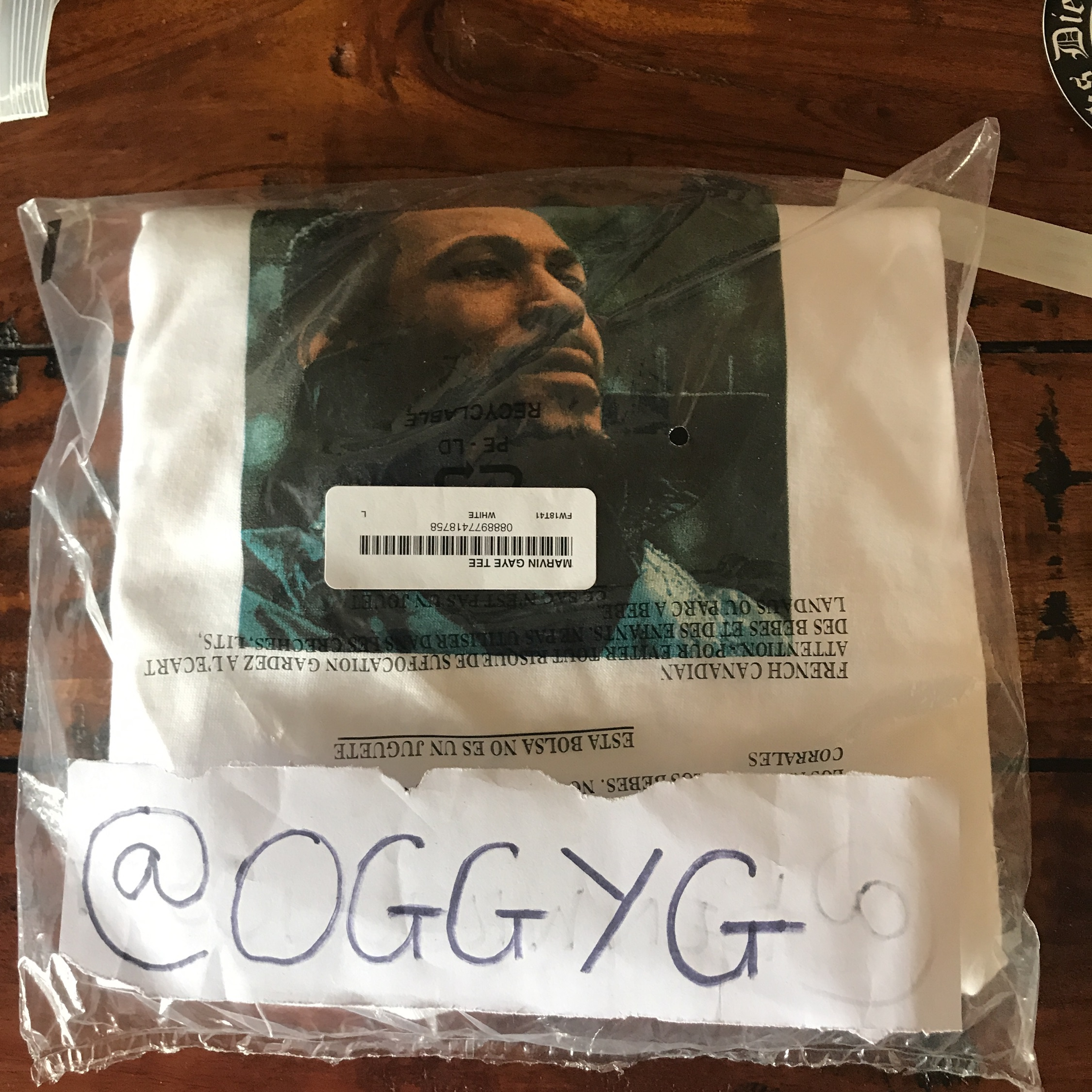 Supreme Marvin Gaye White Tee Large Ds