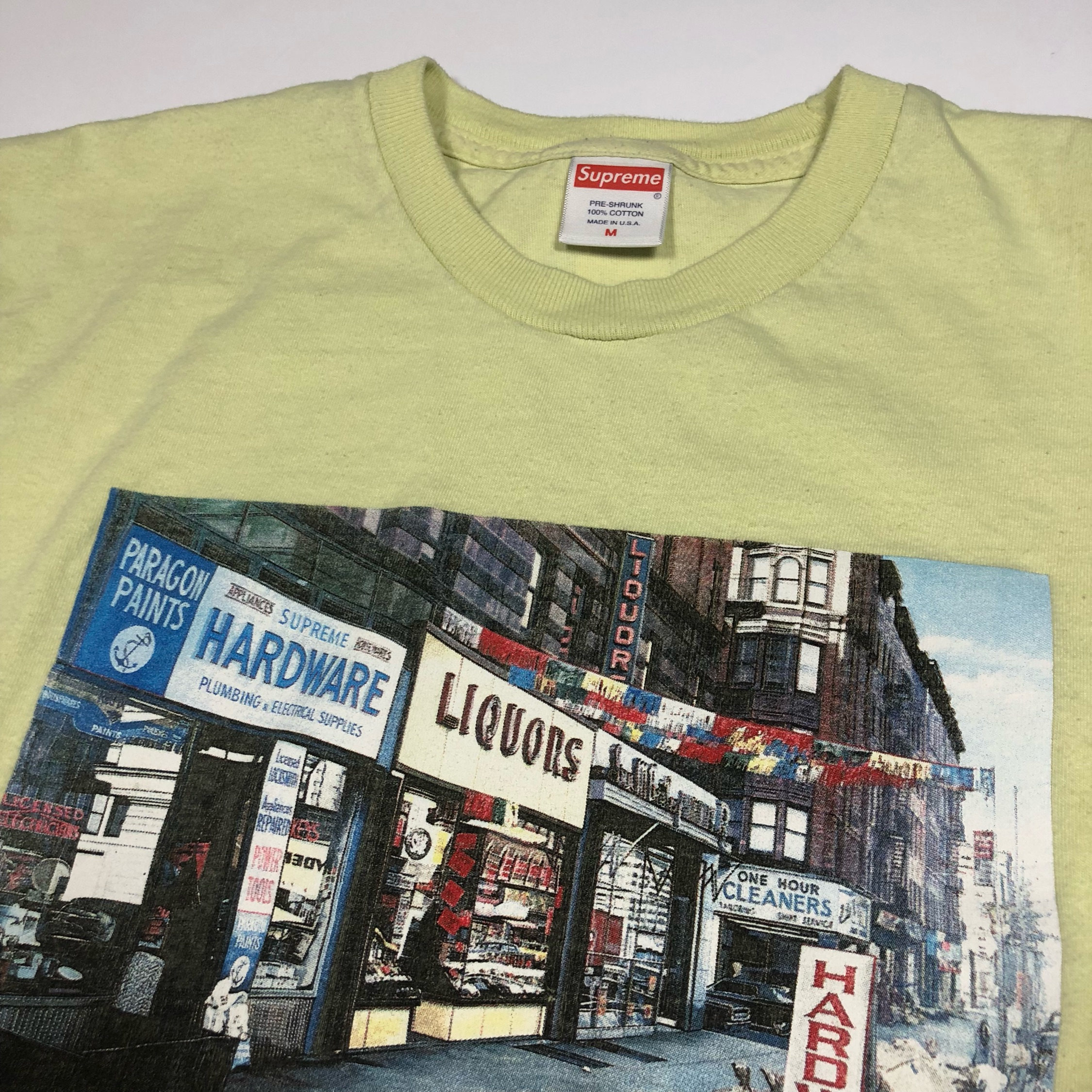Supreme Green Hardware Store T Shirt Medium