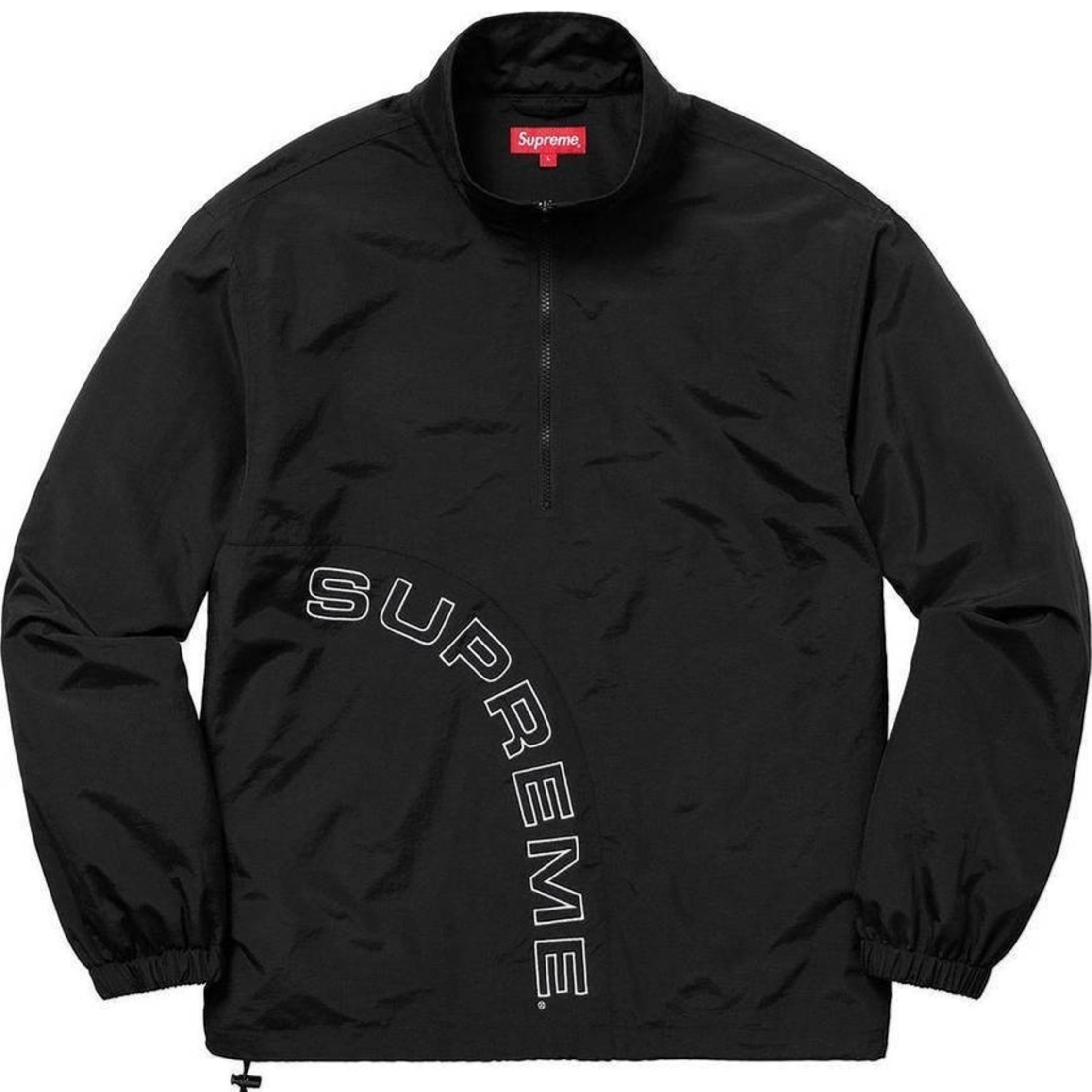 Supreme Ss18 Corner Arc Half Zip Pullover Xl New