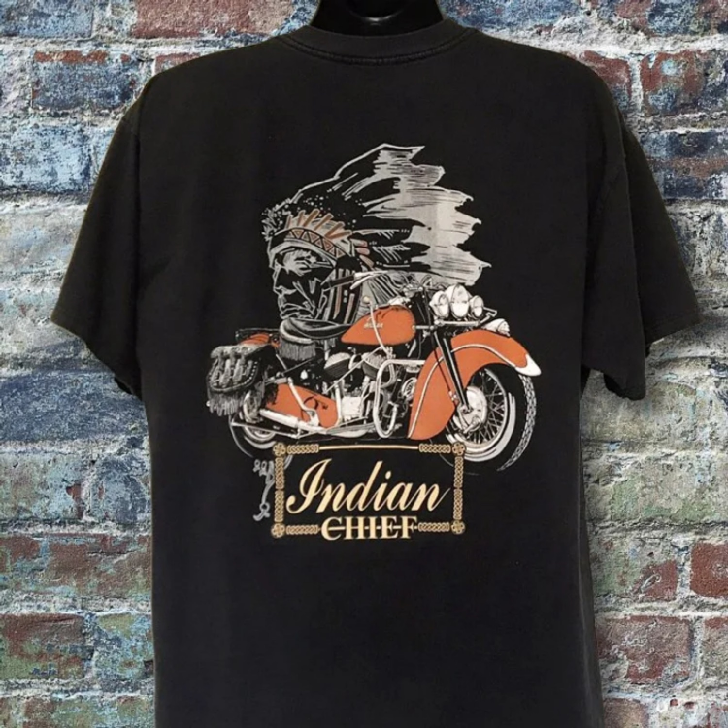 Vintage Indian Motorcycle Chief Graphic T,Shirt