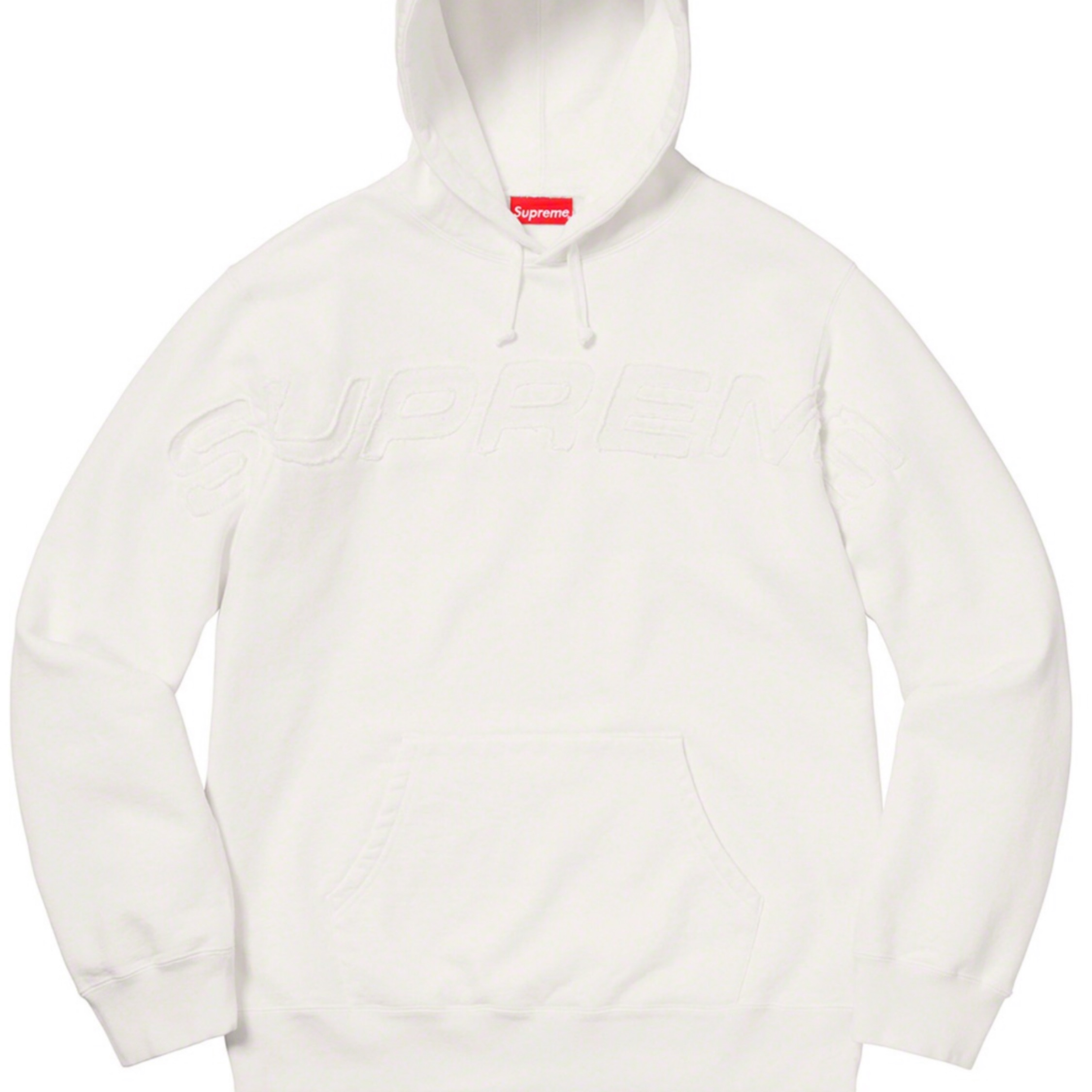 Supreme Set In Logo Hoodie White Large