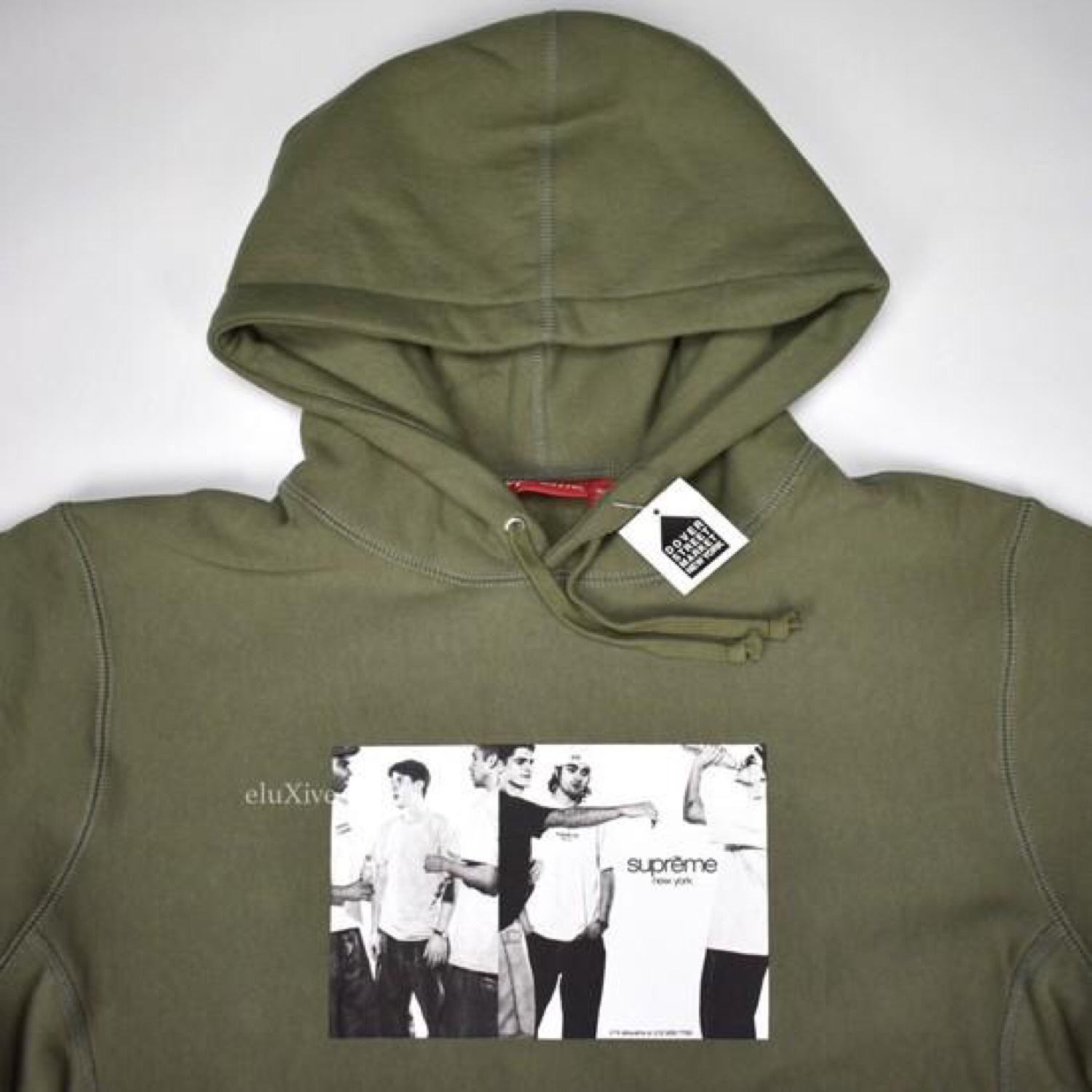 Supreme Classic Ad Logo Olive Hoodie Ds