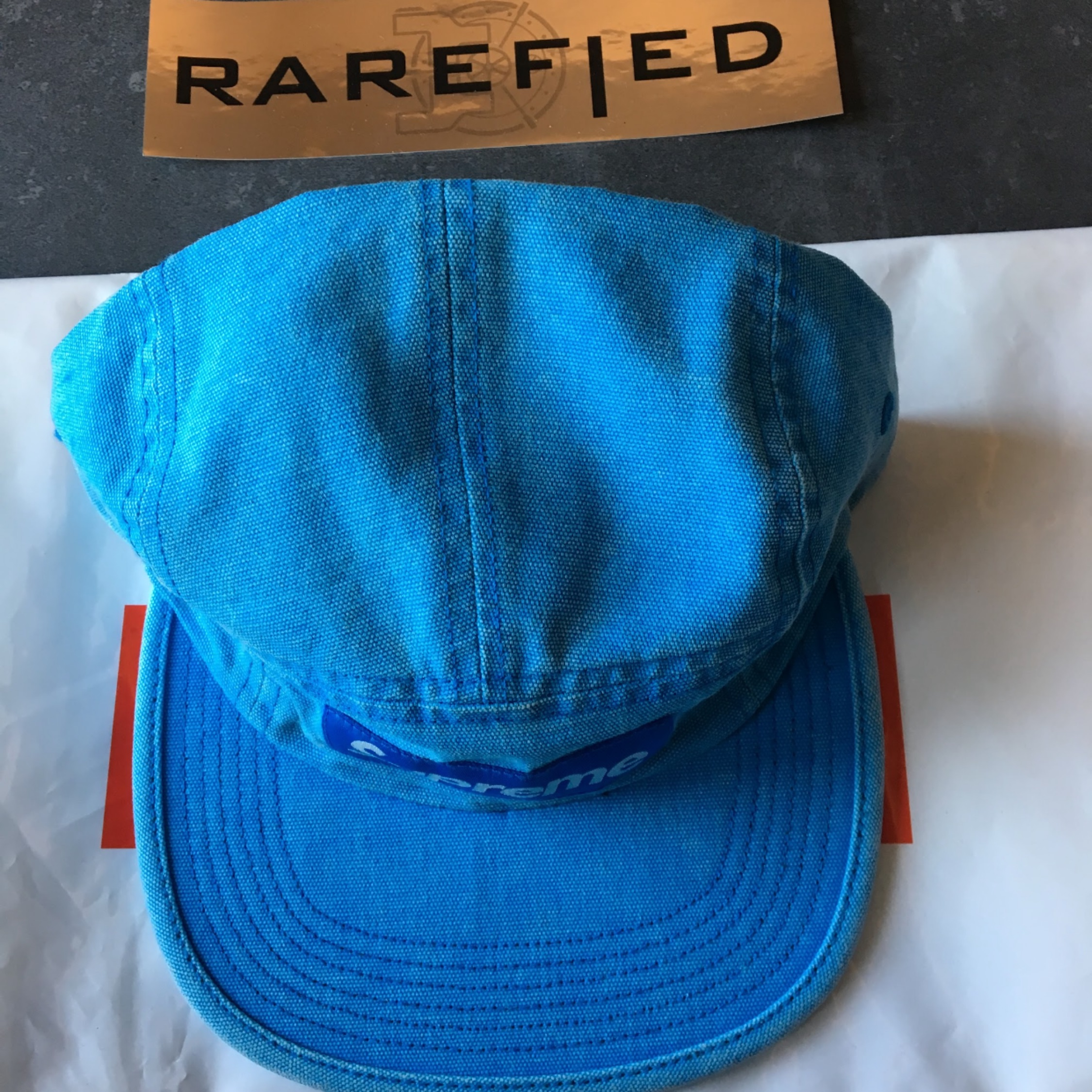 Supreme Washed Canvas Camp Cap
