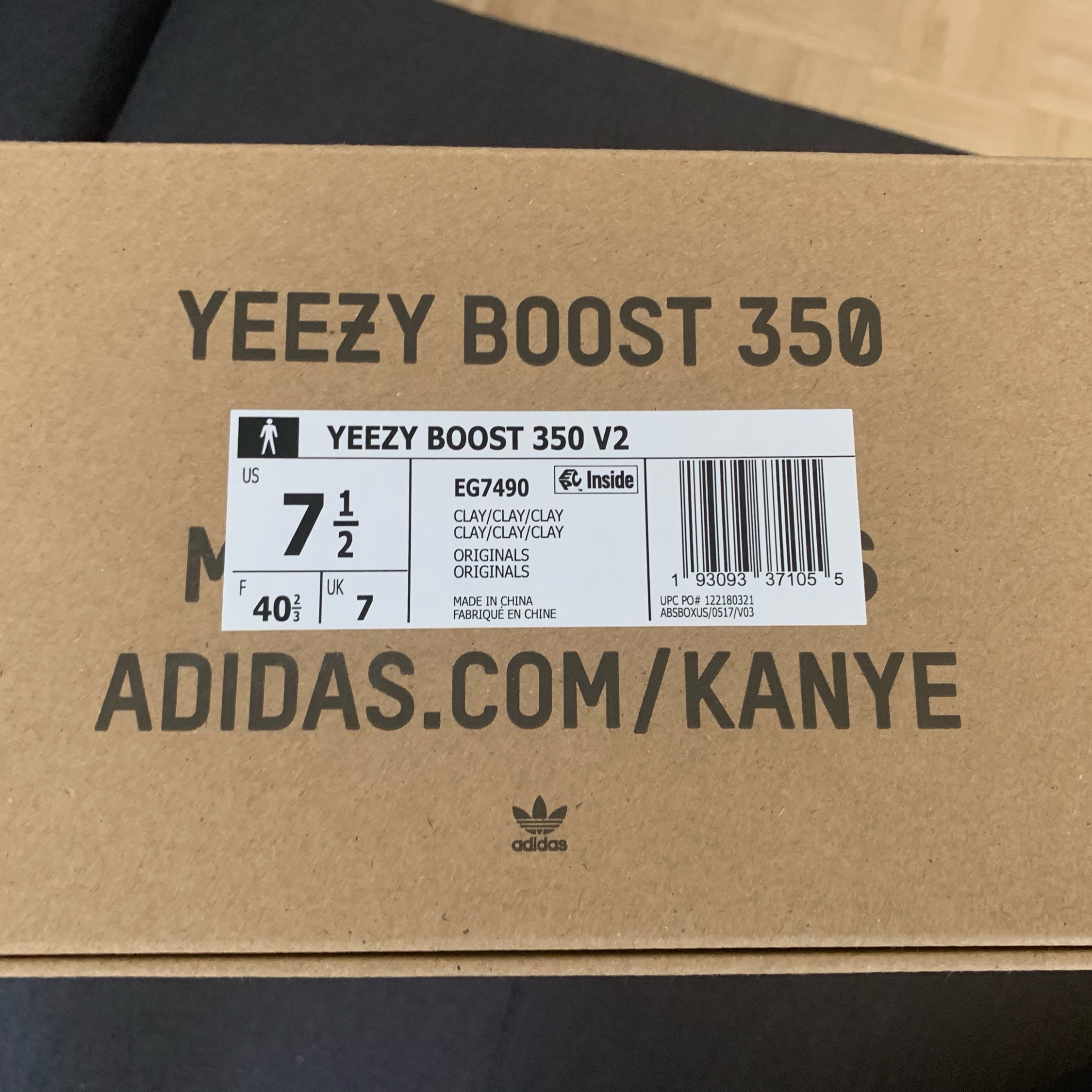 Size Yeezy 350 7 Mens Boost 5 V2 Clay