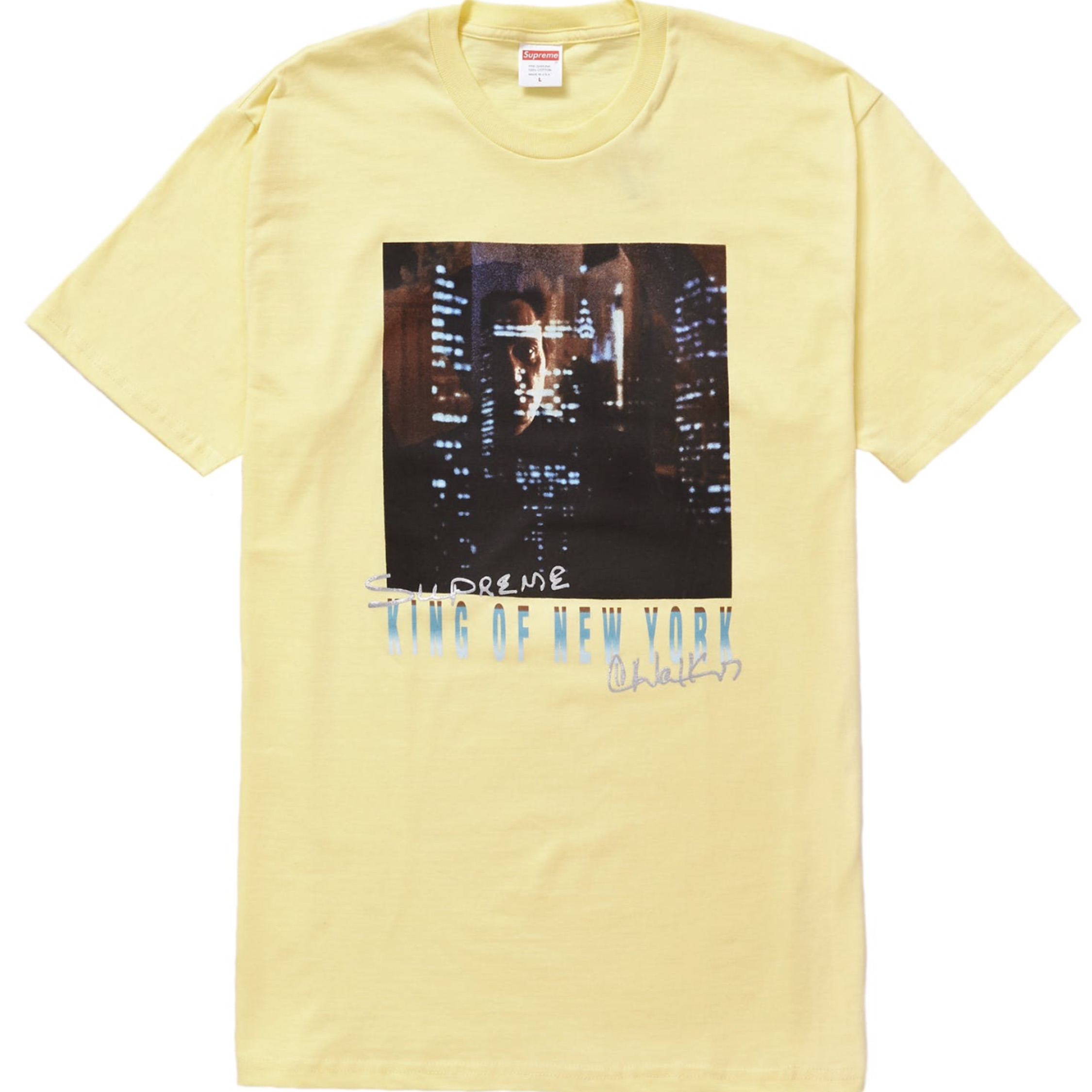 Supreme King Of New York Tee Pale Yellow M