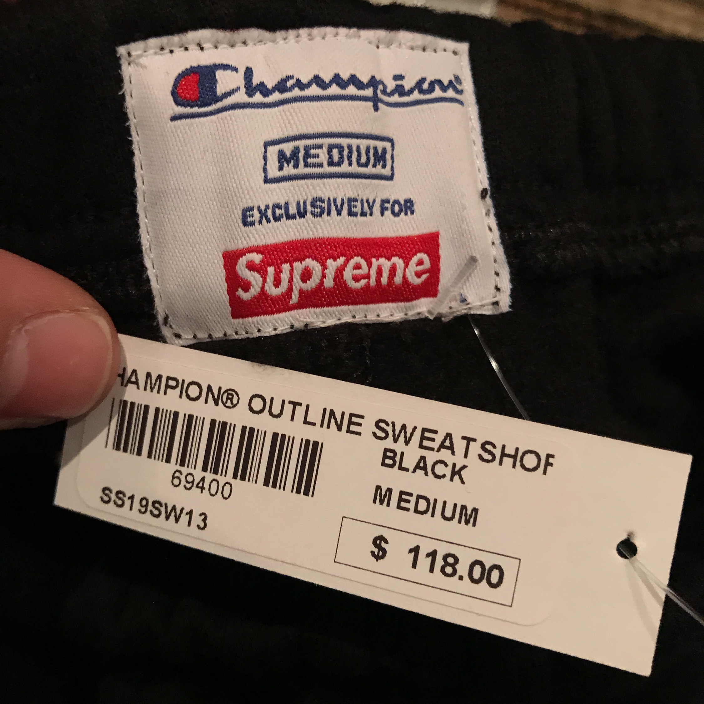 Dswt Supreme X Champion Ss19 Outline Sweat Shorts