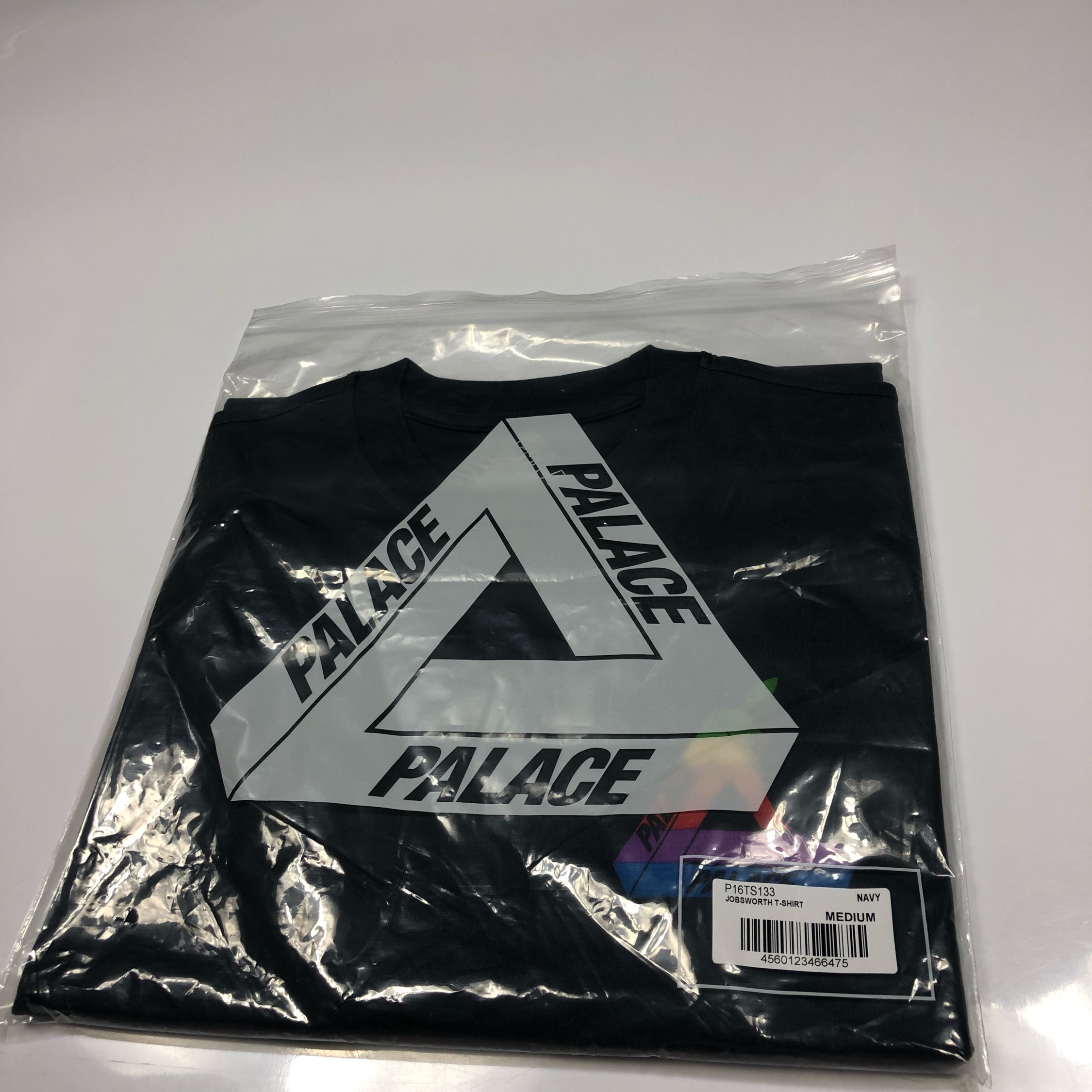 Palace Jobsworth Tri Ferg T Shirt S Navy