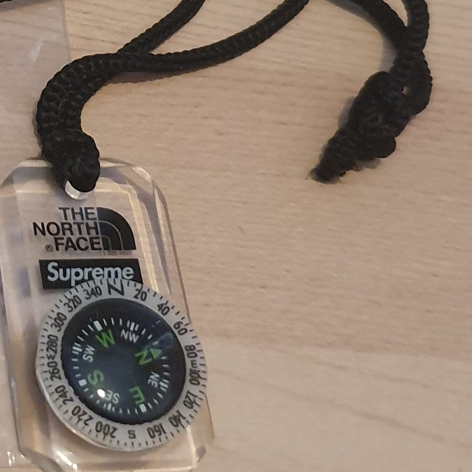 FW18 Supreme x The North Face Necklace Compass