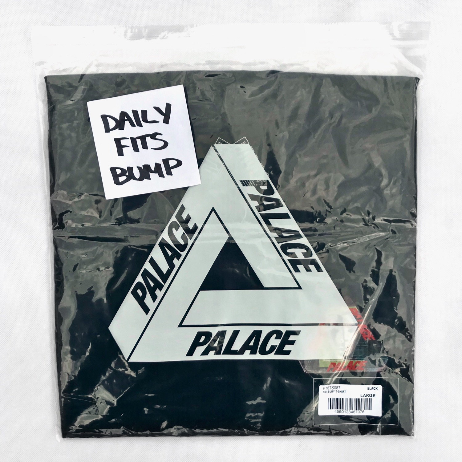 Palace Tri Bury T-Shirt Black Size Large Tri Ferg