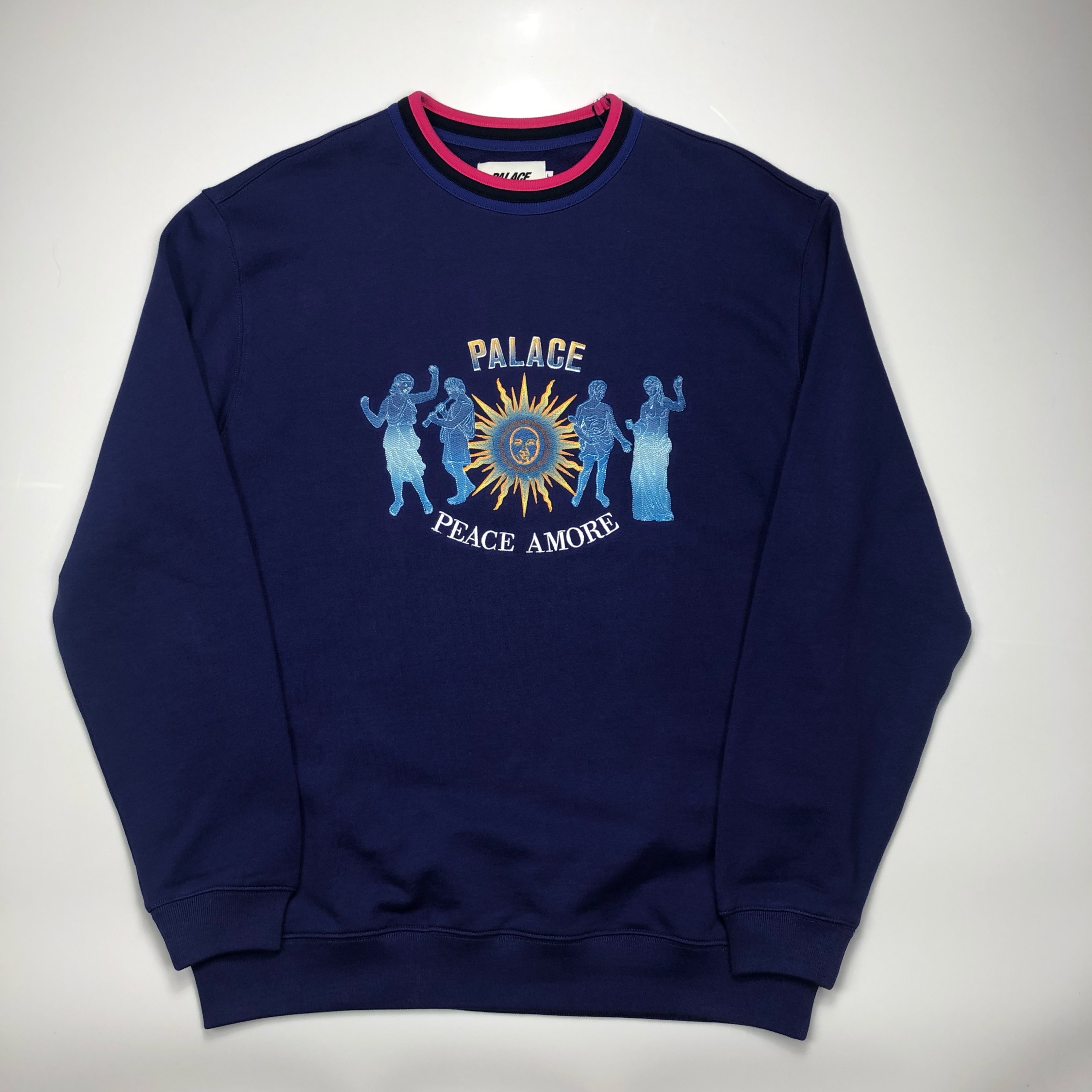 Palace Peace Amore Embroidered Crewneck Sweatshirt