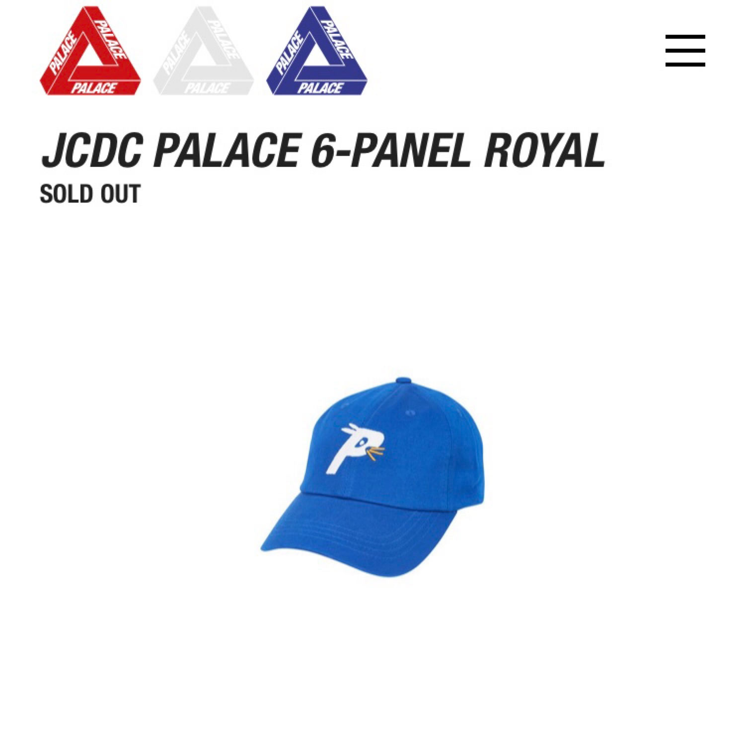 Palace X Jcdc 6-Panel Cap Royal Blue Ss 19