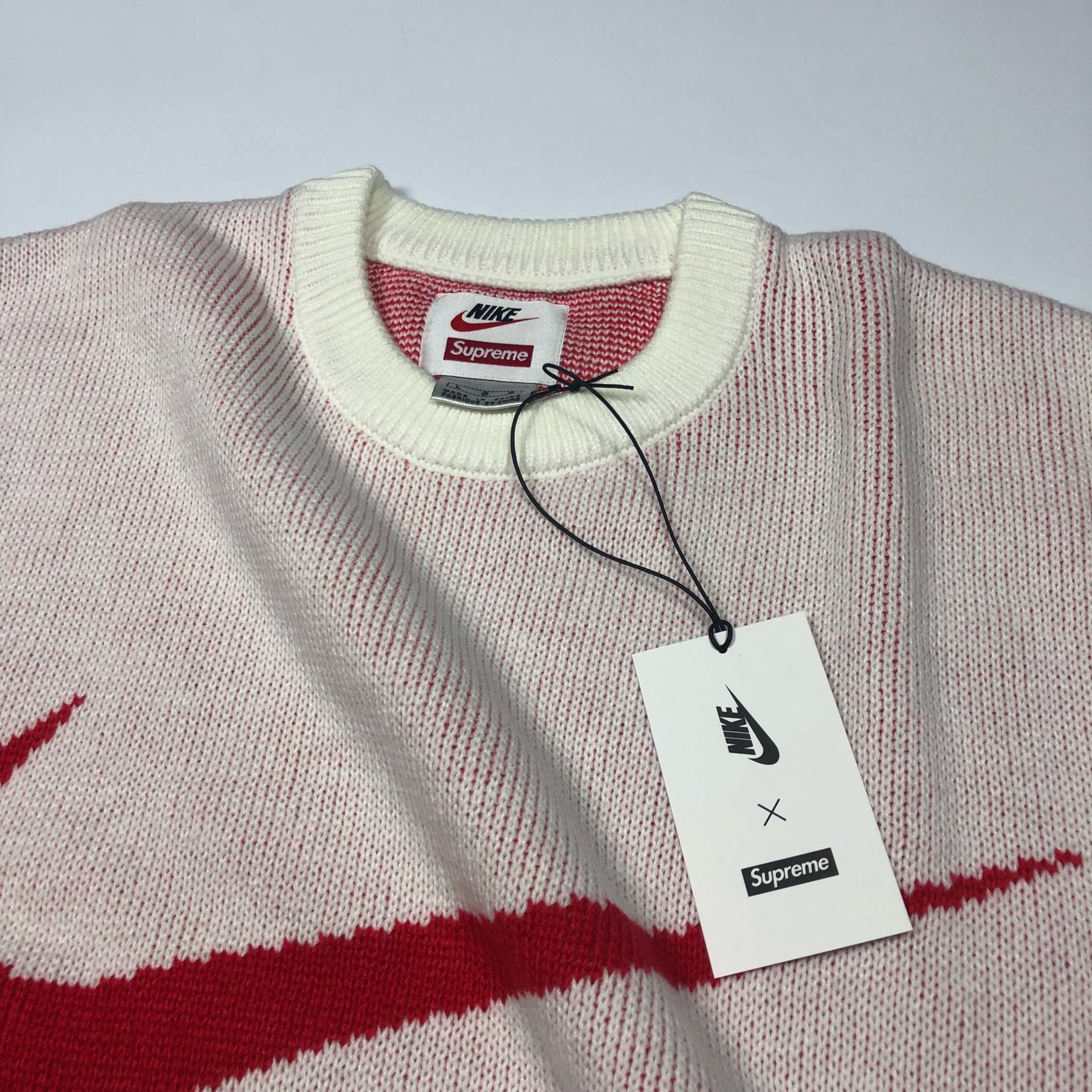 Supreme Nike Swoosh Knitted Sweater New Large