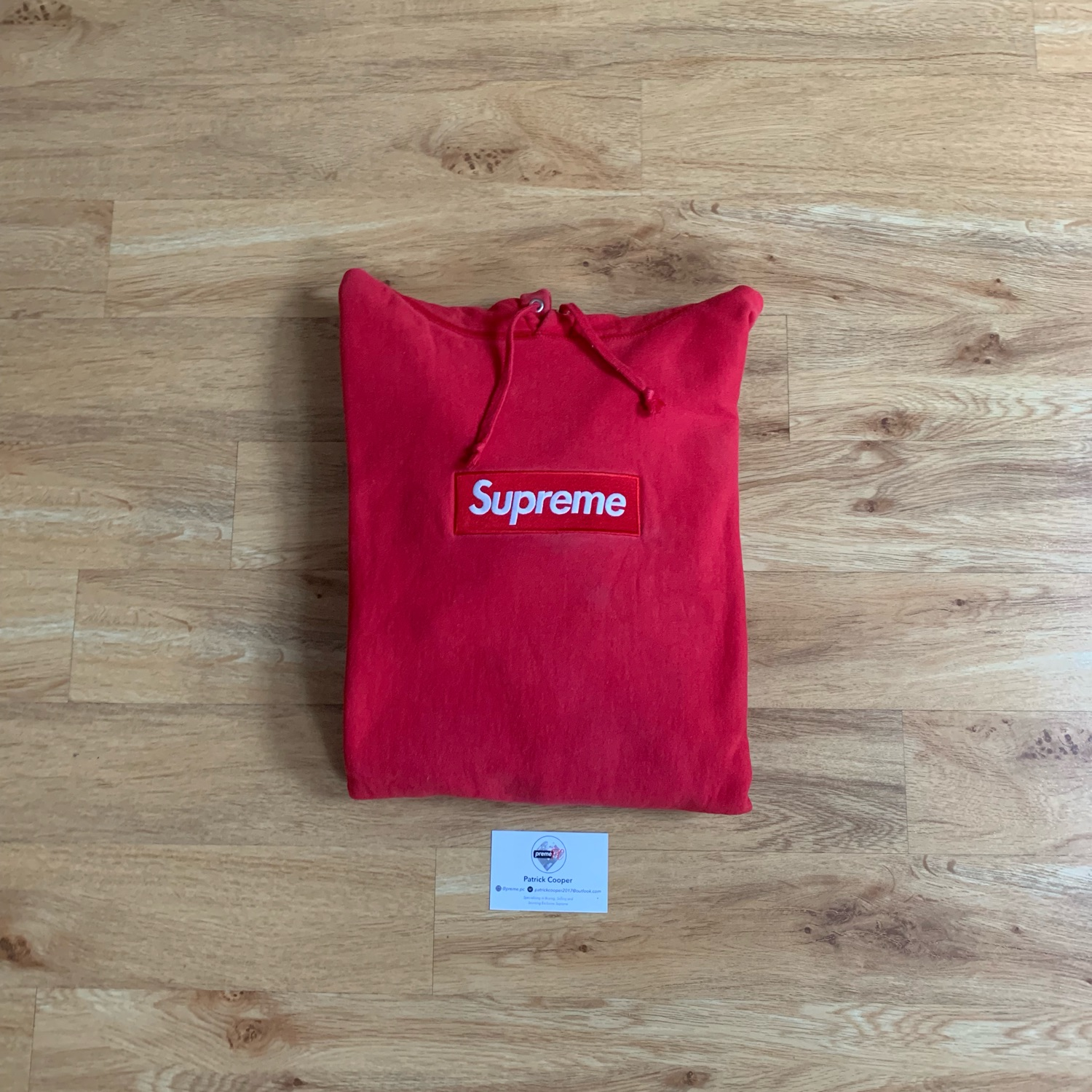 Supreme Box Logo Hoodie Red On Red Fw16