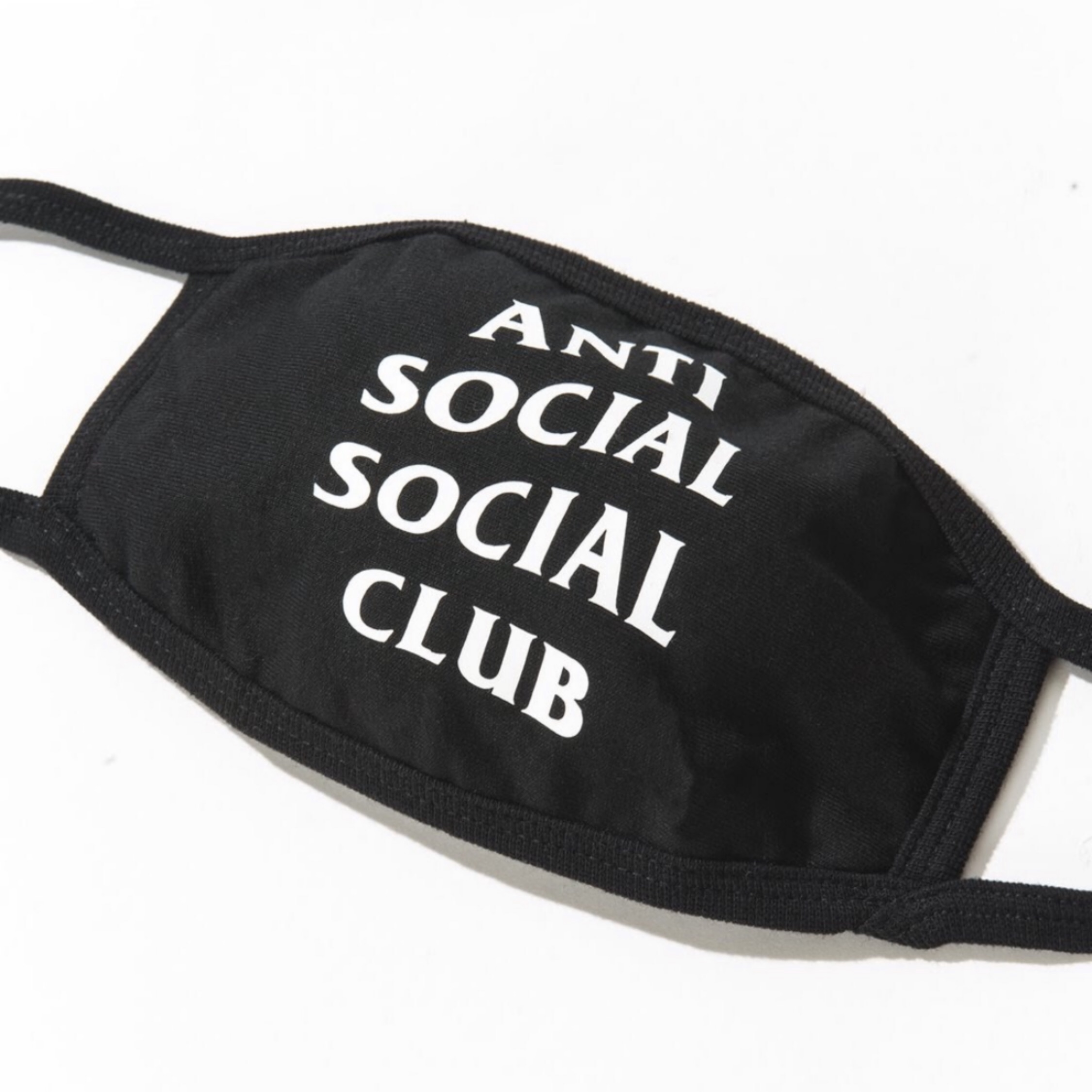 Anti Social Social Club Face Mask Black