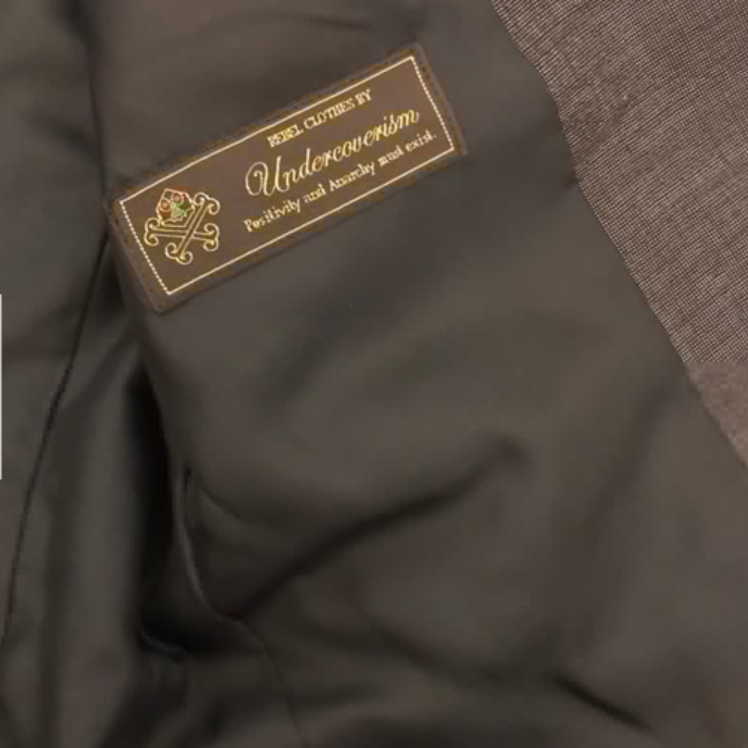 Undercover Suit Jacket Leather Collar Sample