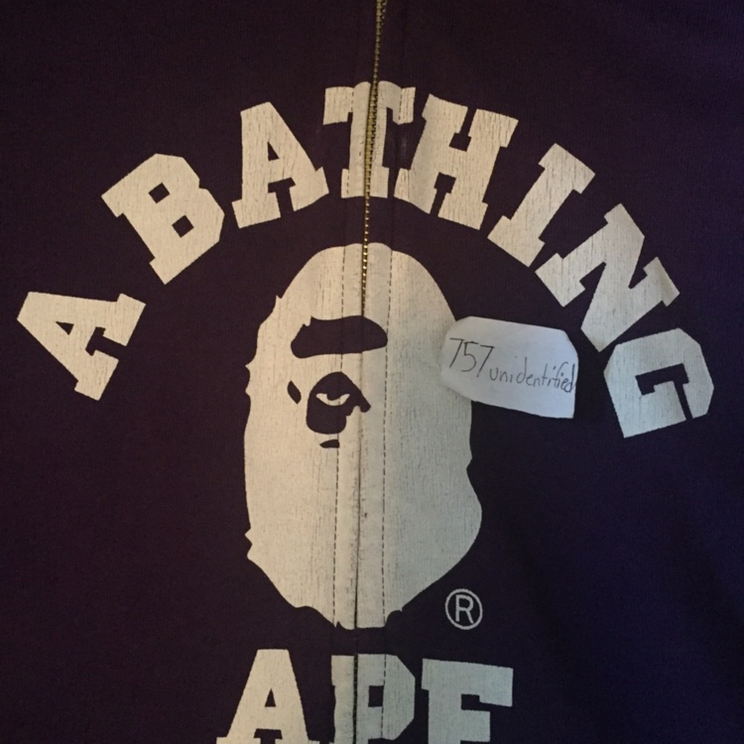 A Bathing Ape Reversible Logo Zip Up Hoodie