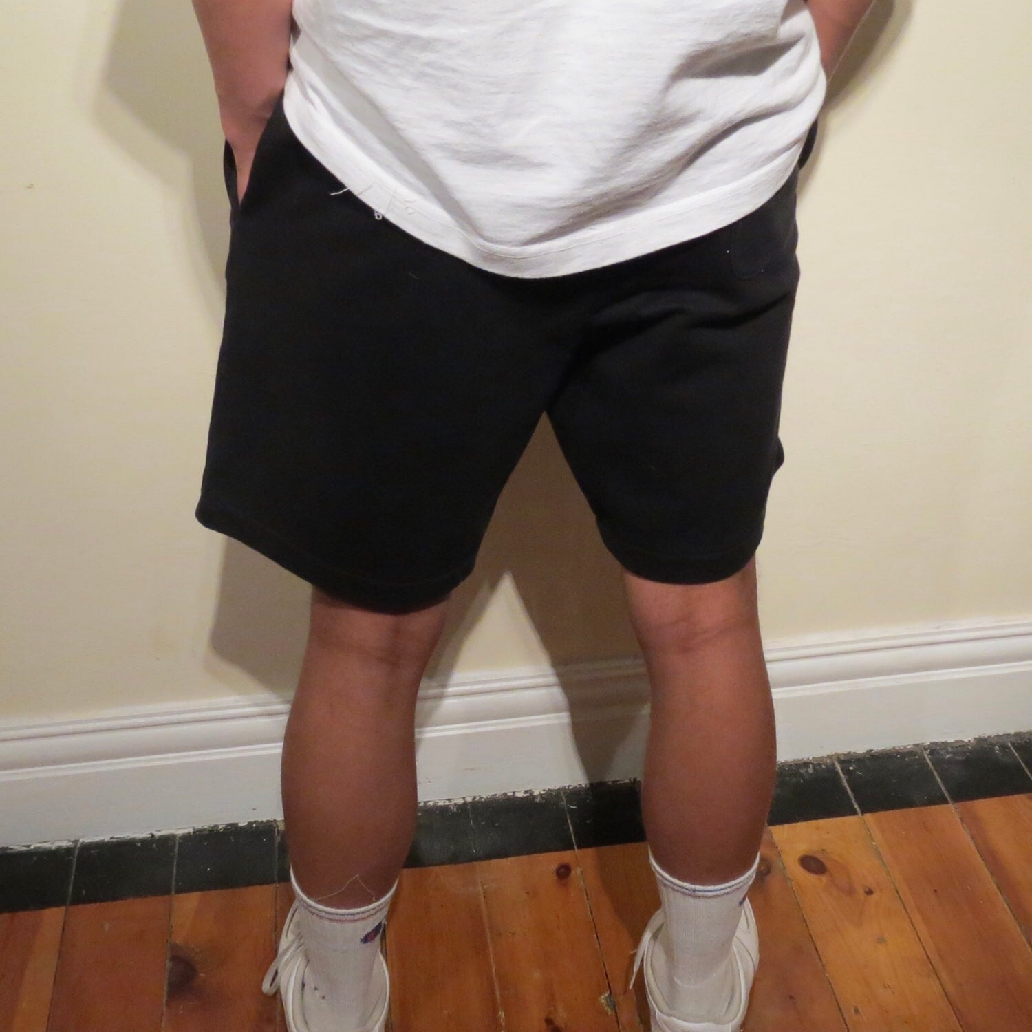 Supreme X Lacoste Black Embroidered Shorts.