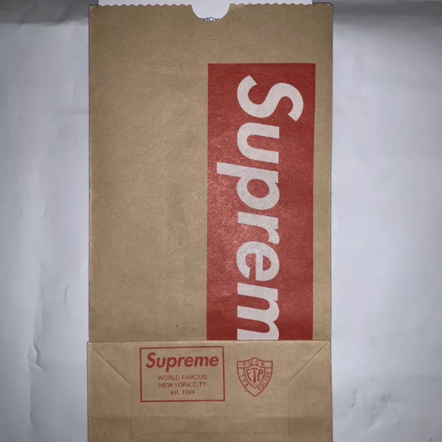 Supreme New York Brown Paper Bag