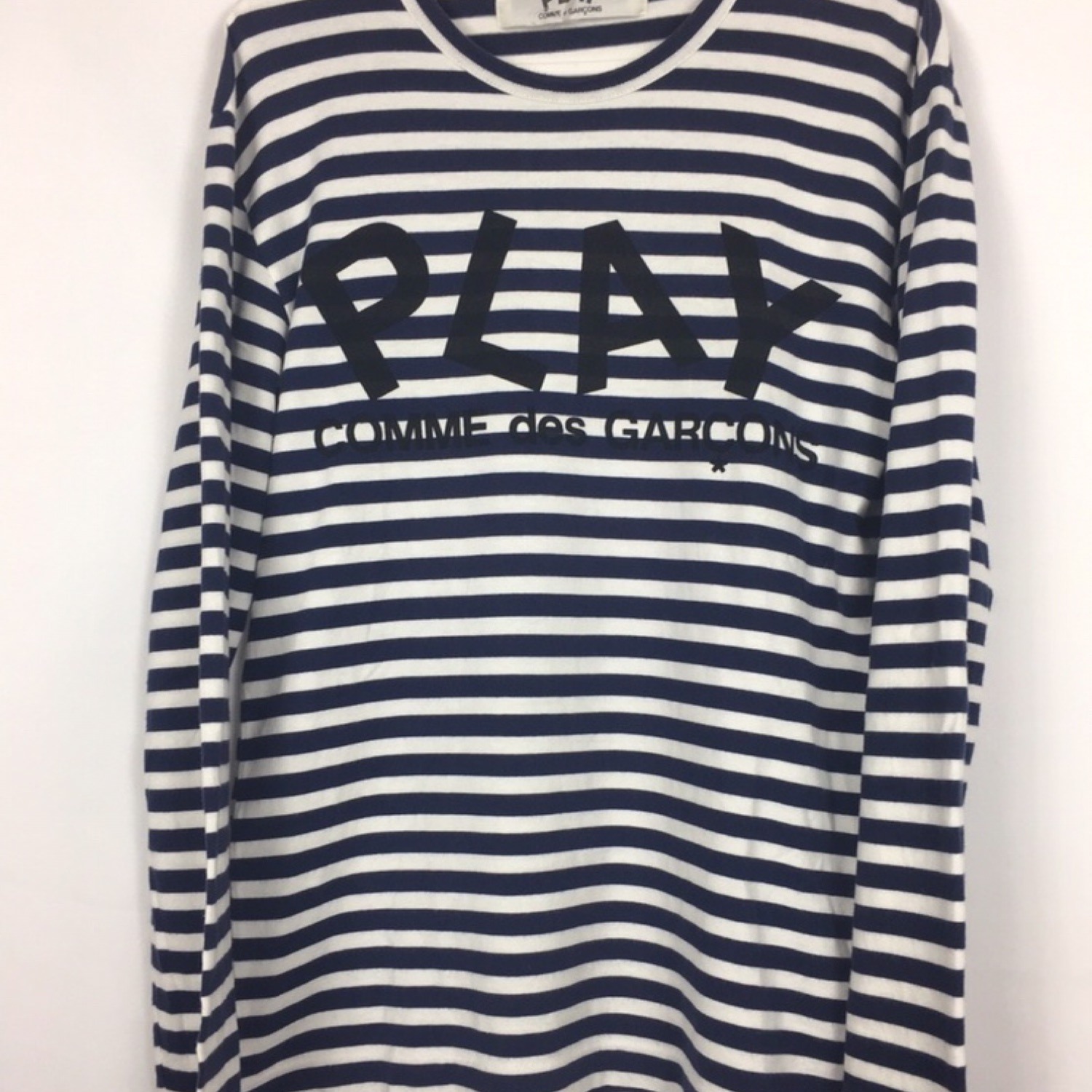 Comme Des Garcons Striped Play Long Sleeve