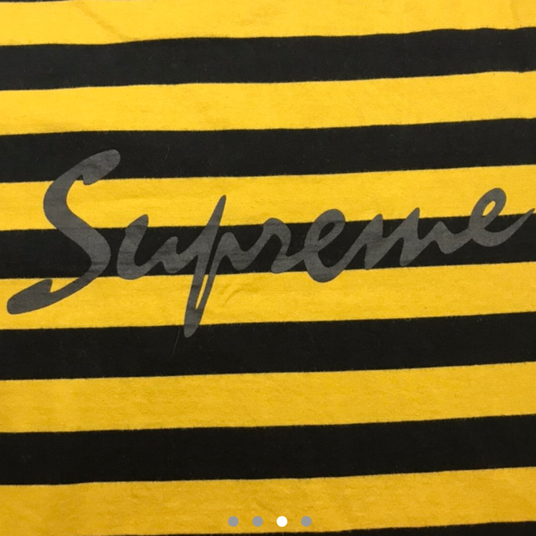 Supreme Script Striped L/S Tee