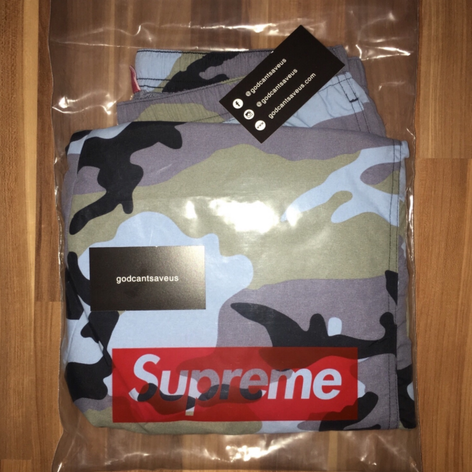 Supreme Camo Warm Up Pants