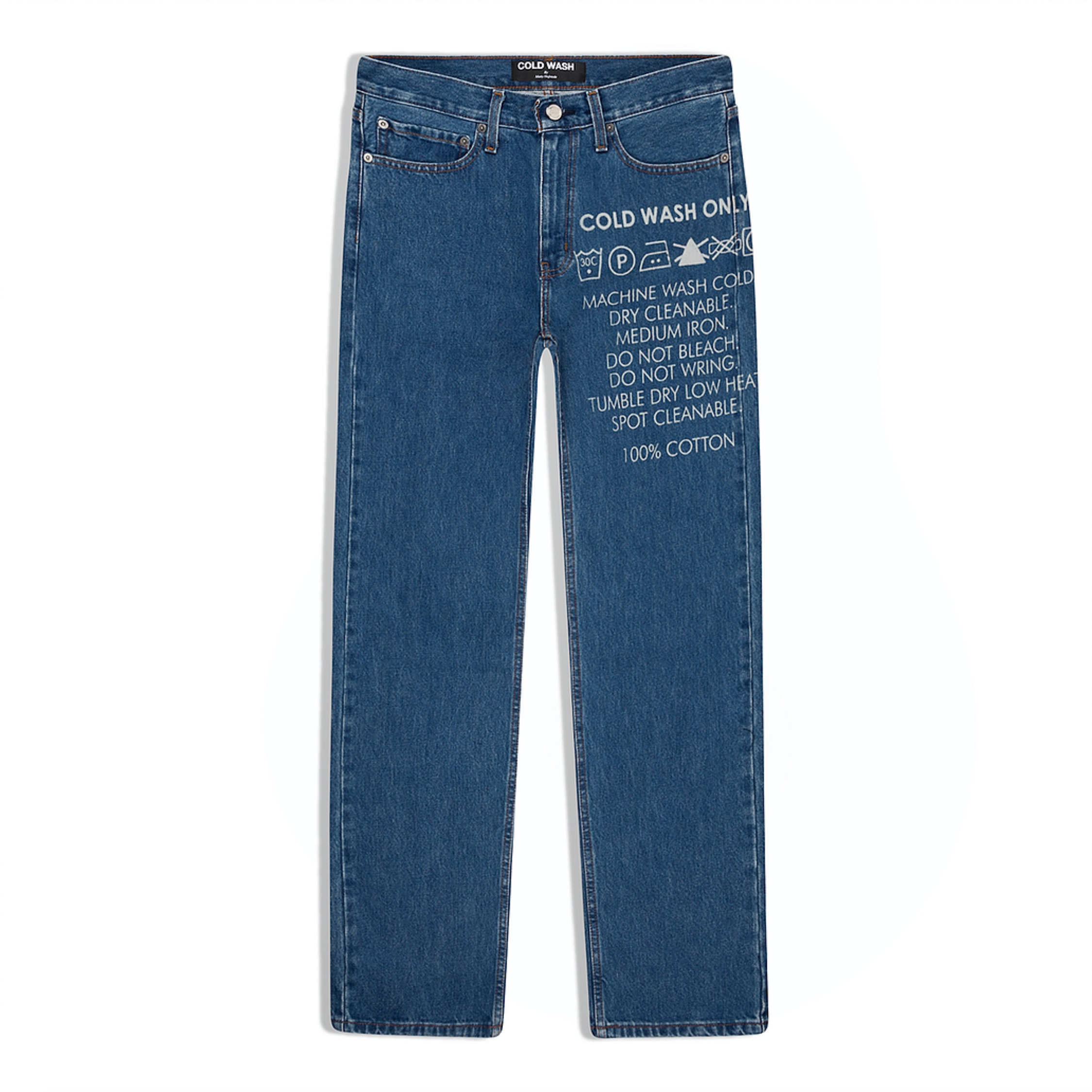 Cold Wash Lasered Jeans