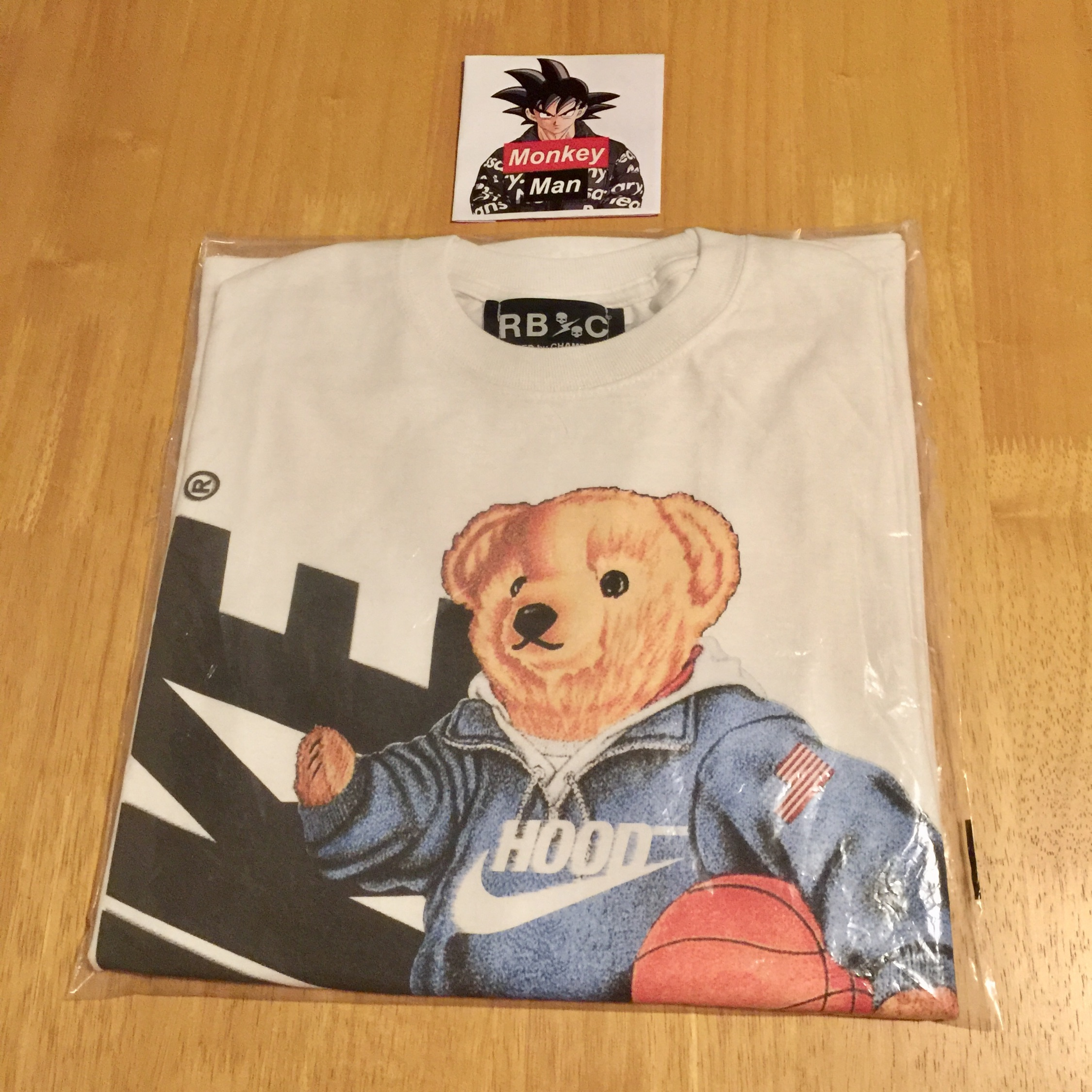 Raised By Champions Bear Ls Tee White S
