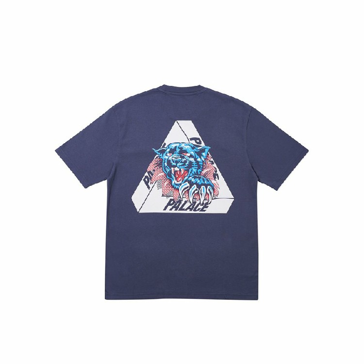 Palace Ripped Tee L Navy DS