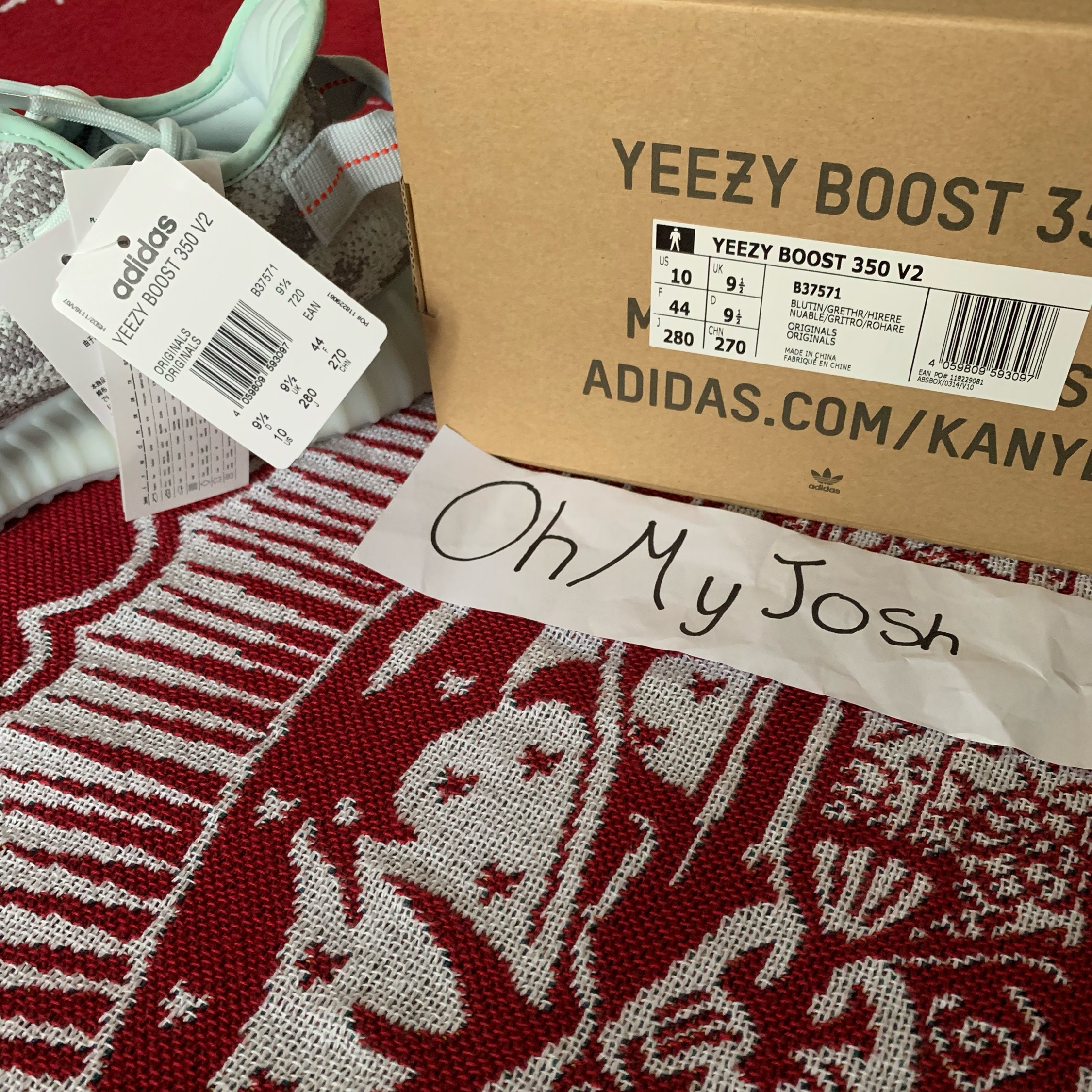 Yeezy Blue Tint Uk 9.5
