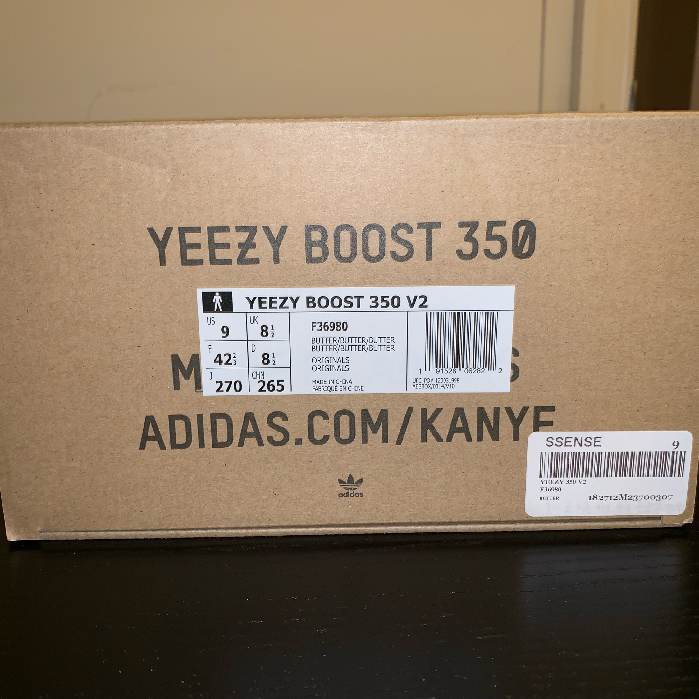 4f4261990 Yeezy Boost 350 V2 Butter Size 9