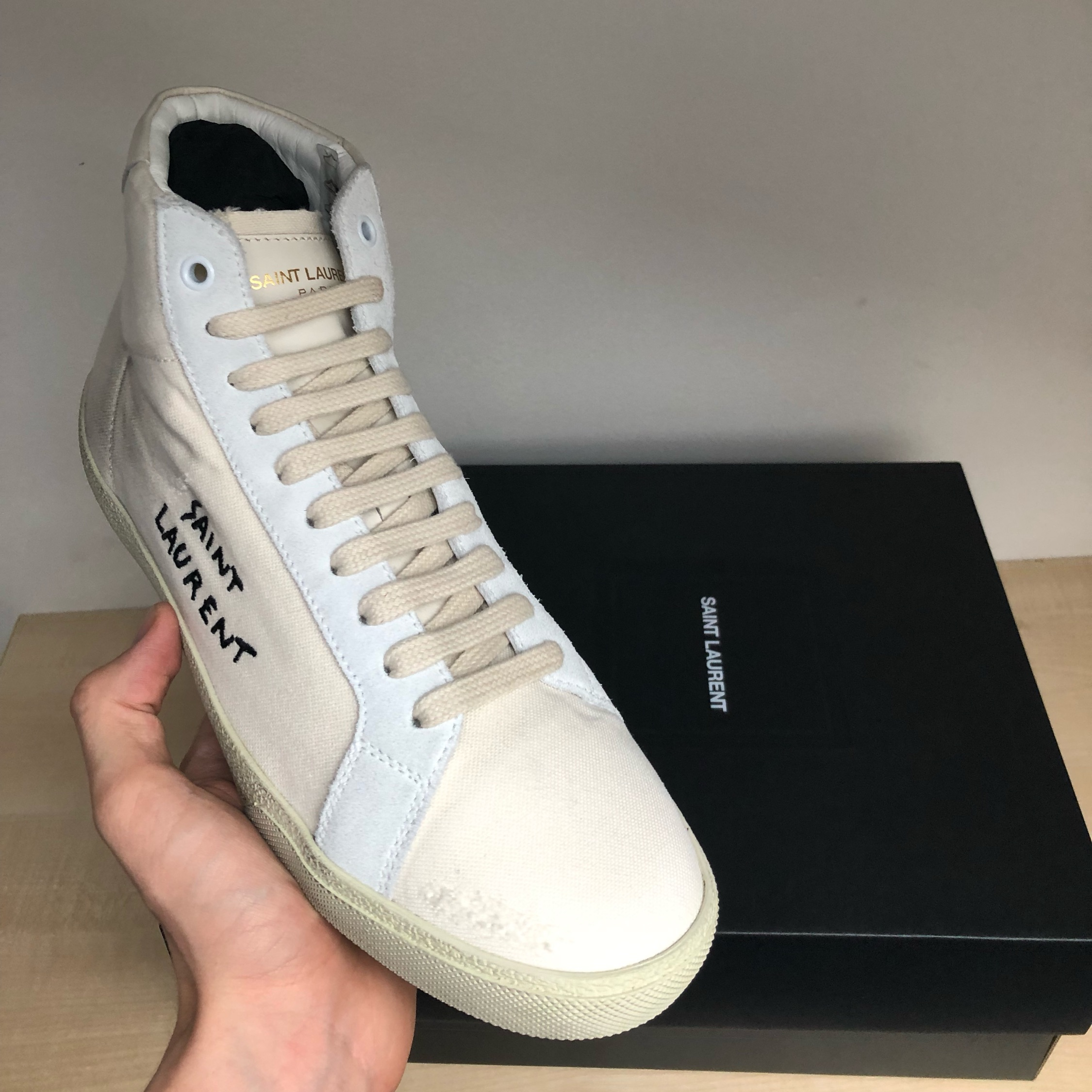 Saint Laurent Paris Classic Court Sneakers