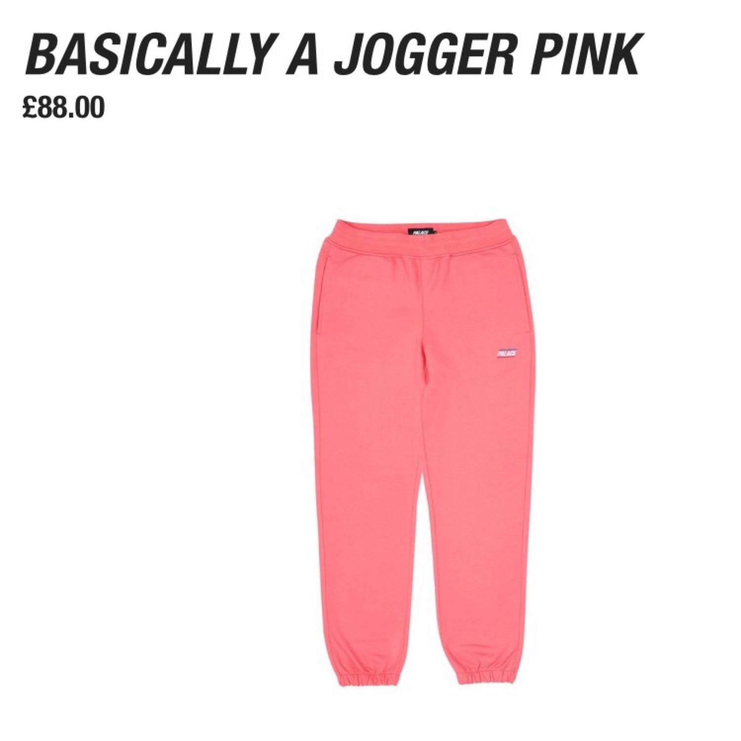 Palace Basically A Jogger Pink