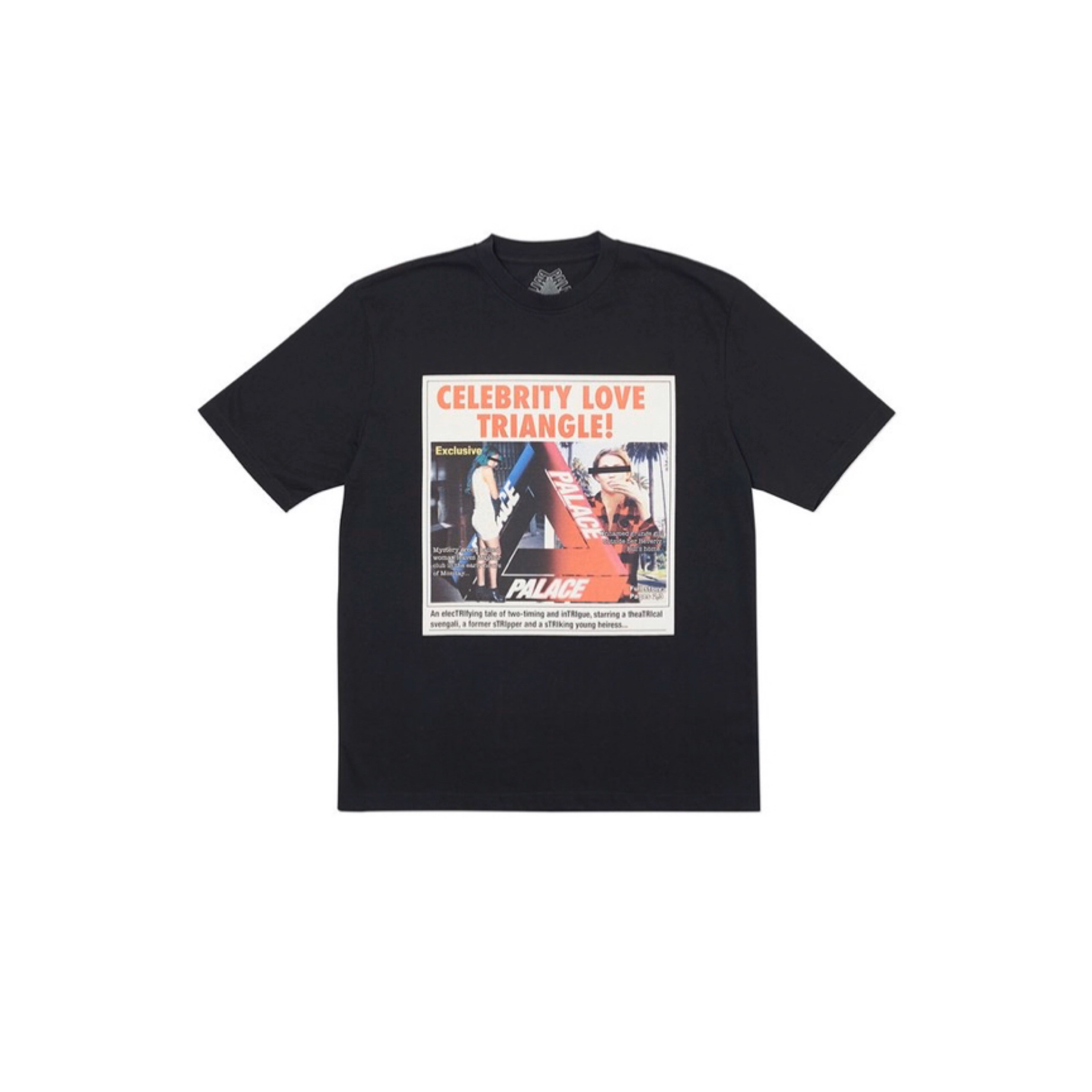 Palace Love Triangle Tri Ferg T Shirt Tee Black L