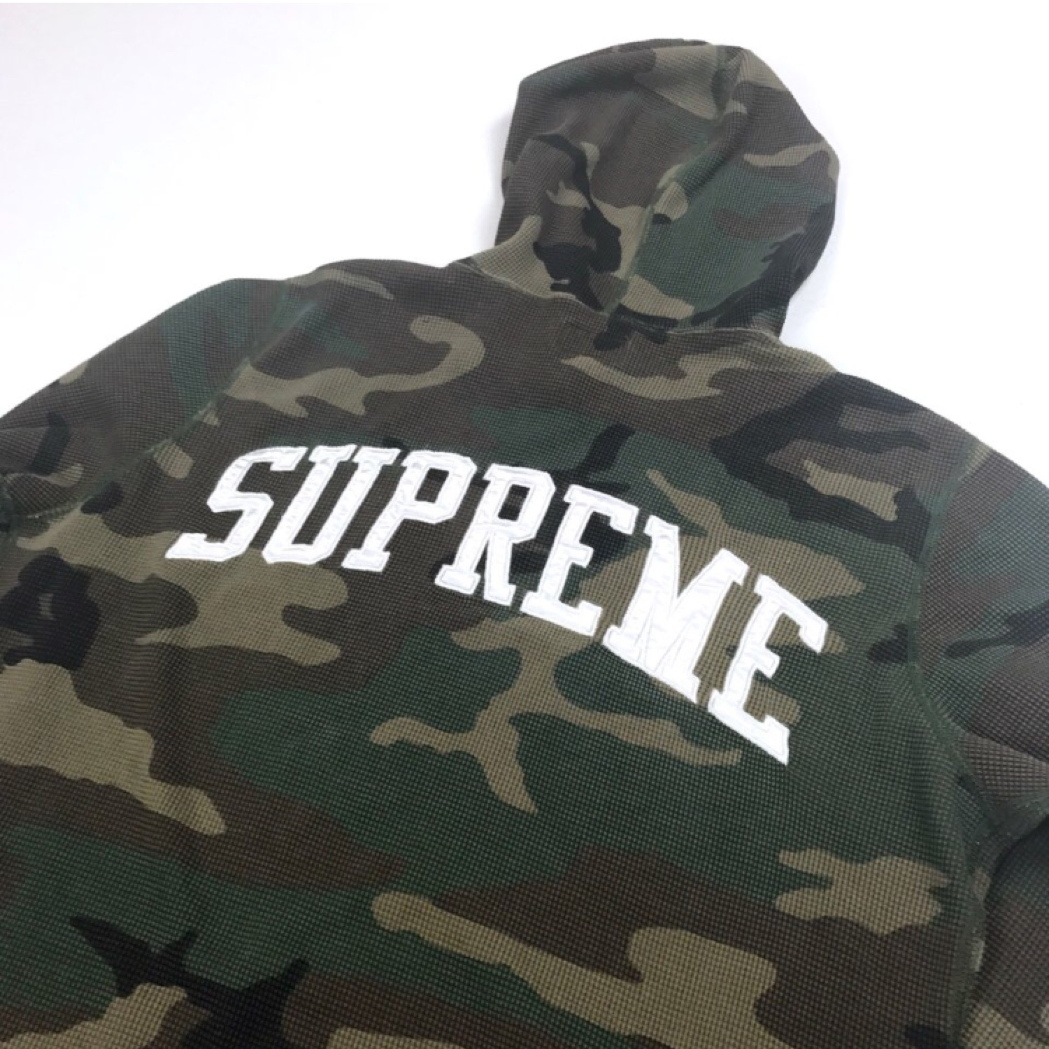 Supreme Thermal Waffle Camo Hooded Jumper