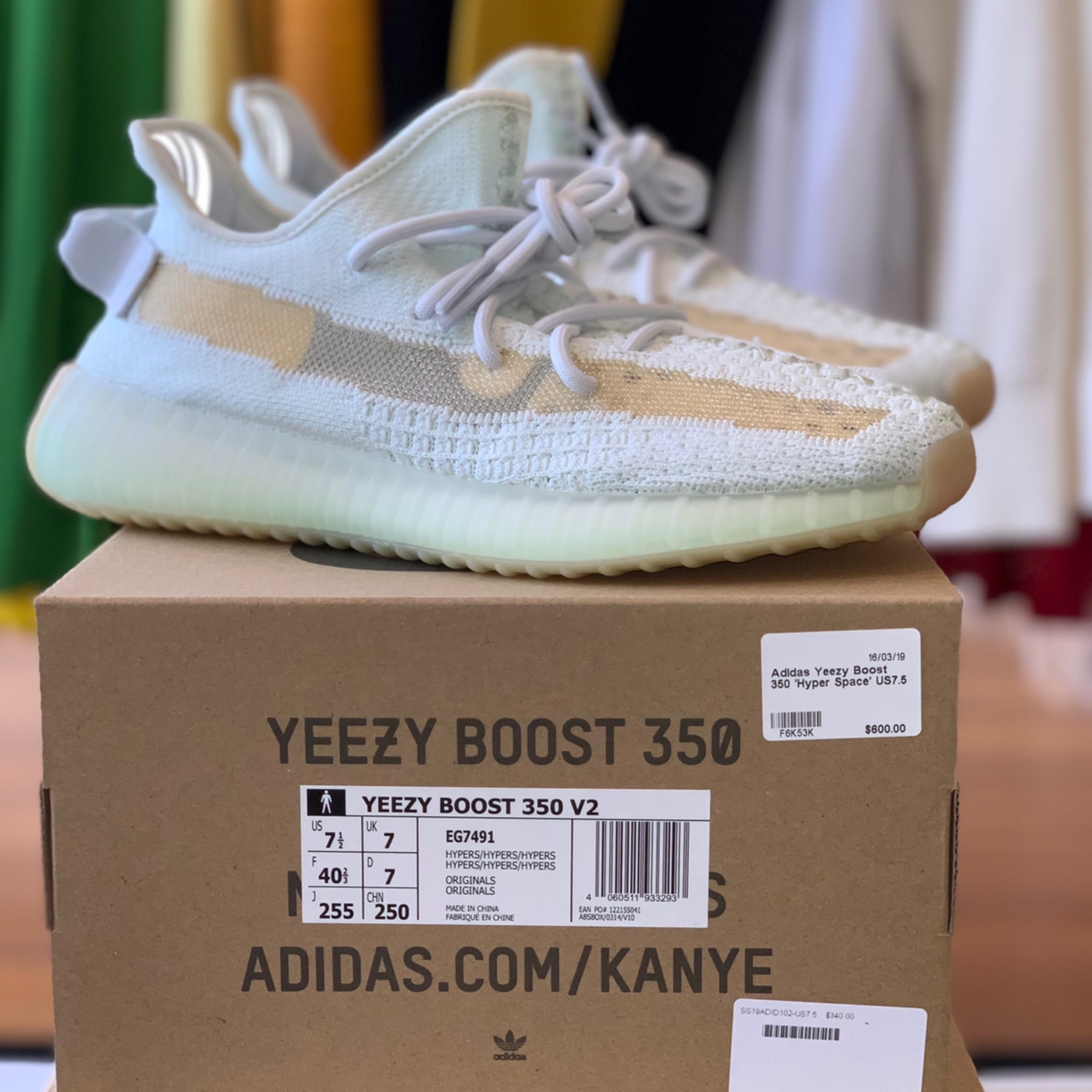 Adidas Yeezy Boost 350 V2 Hyperspace Us7 5