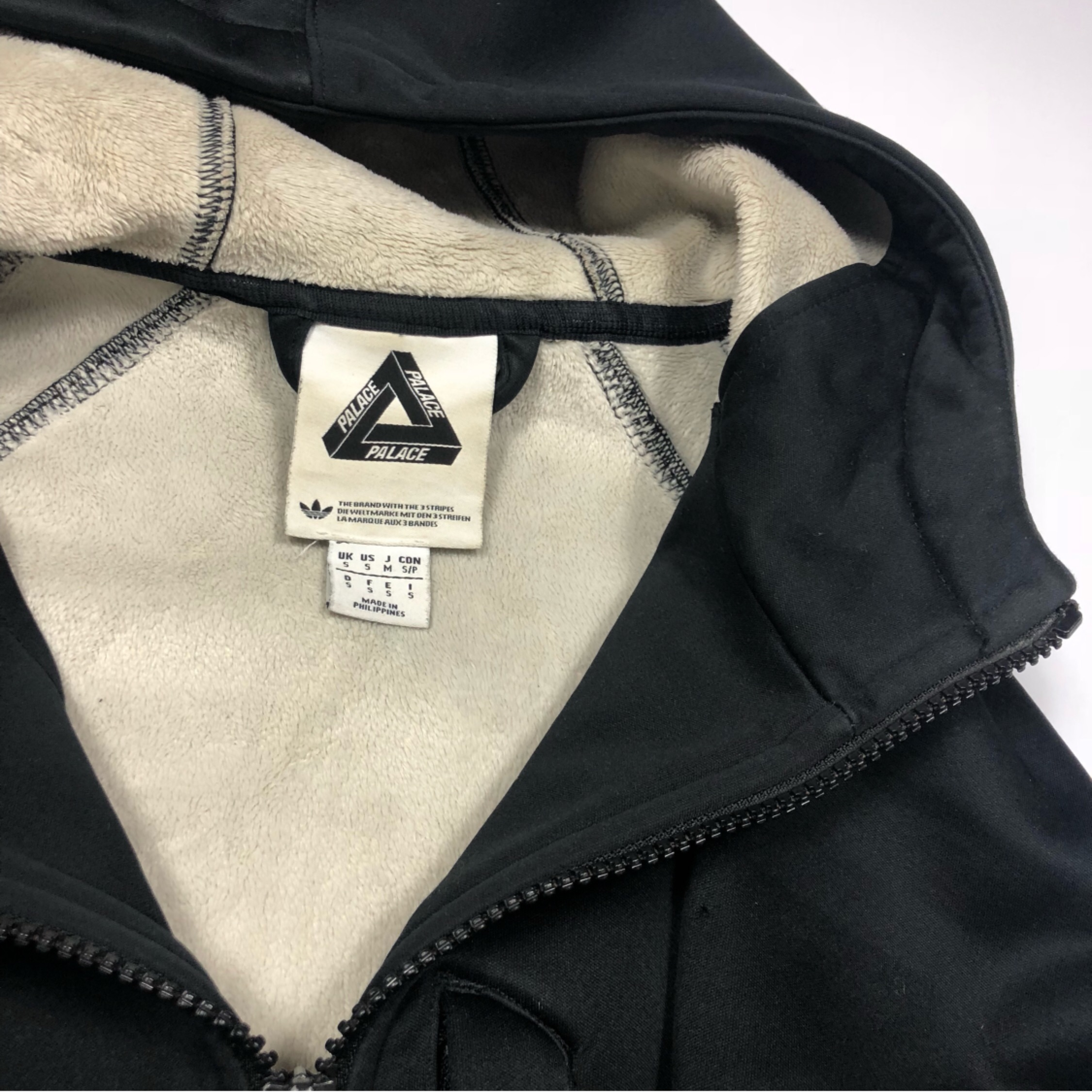 uk availability later special sales Palace X Adidas Neoprene Hoodie Tri Ferg Small