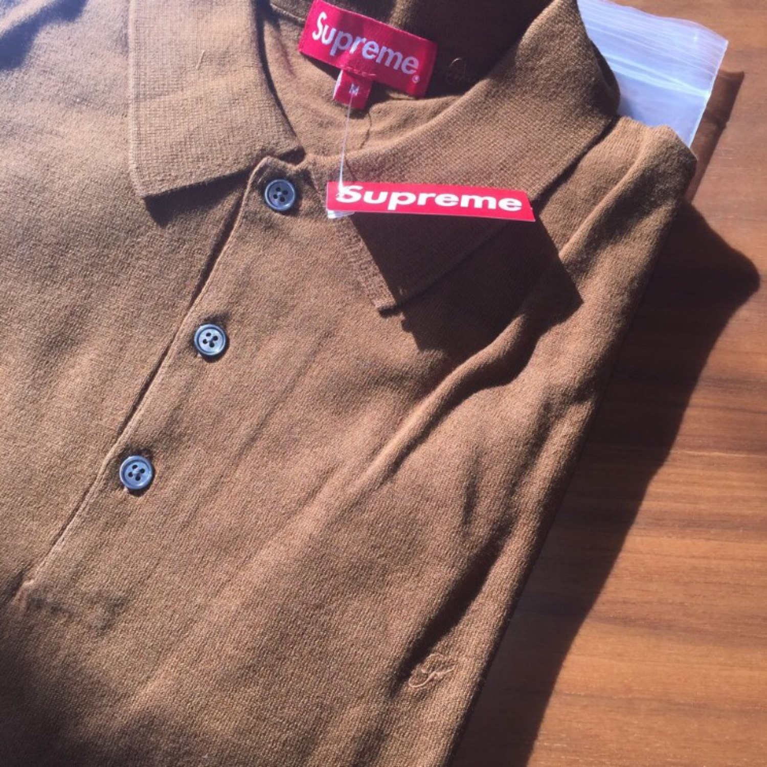 Supreme Brown Knit Polo