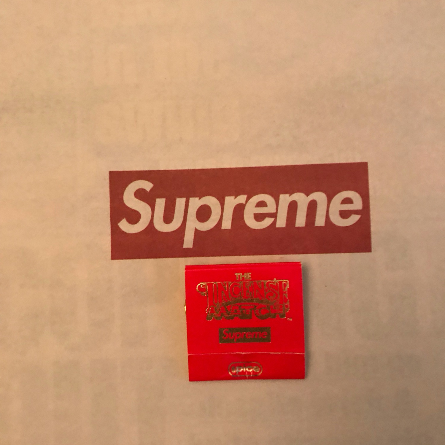 Free Shipping Supreme Matches And Chihuahua Sticke