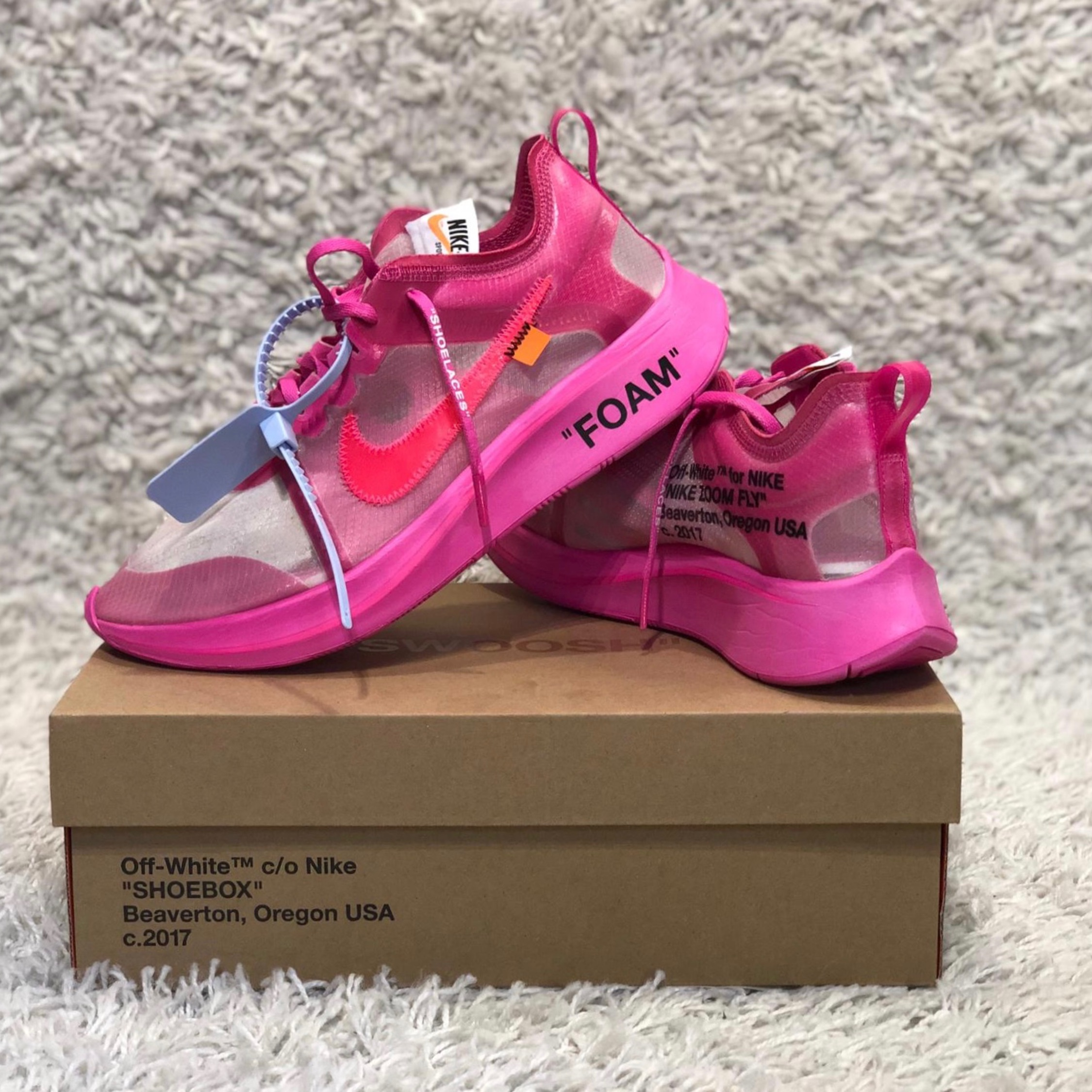 Nike X Offwhite Zoom Fly Pink