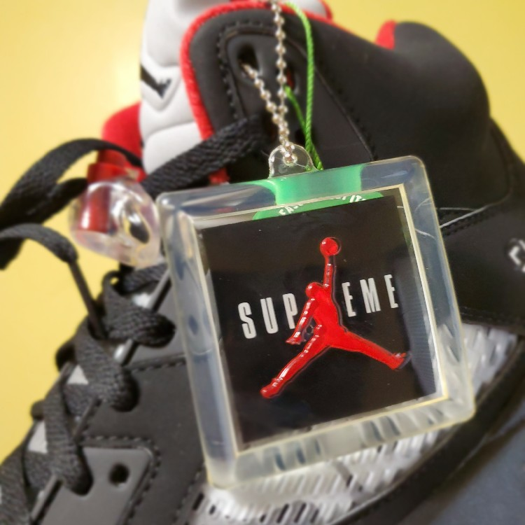Supreme X Jordan, Air Jordan Retro 5, Black, Size 12